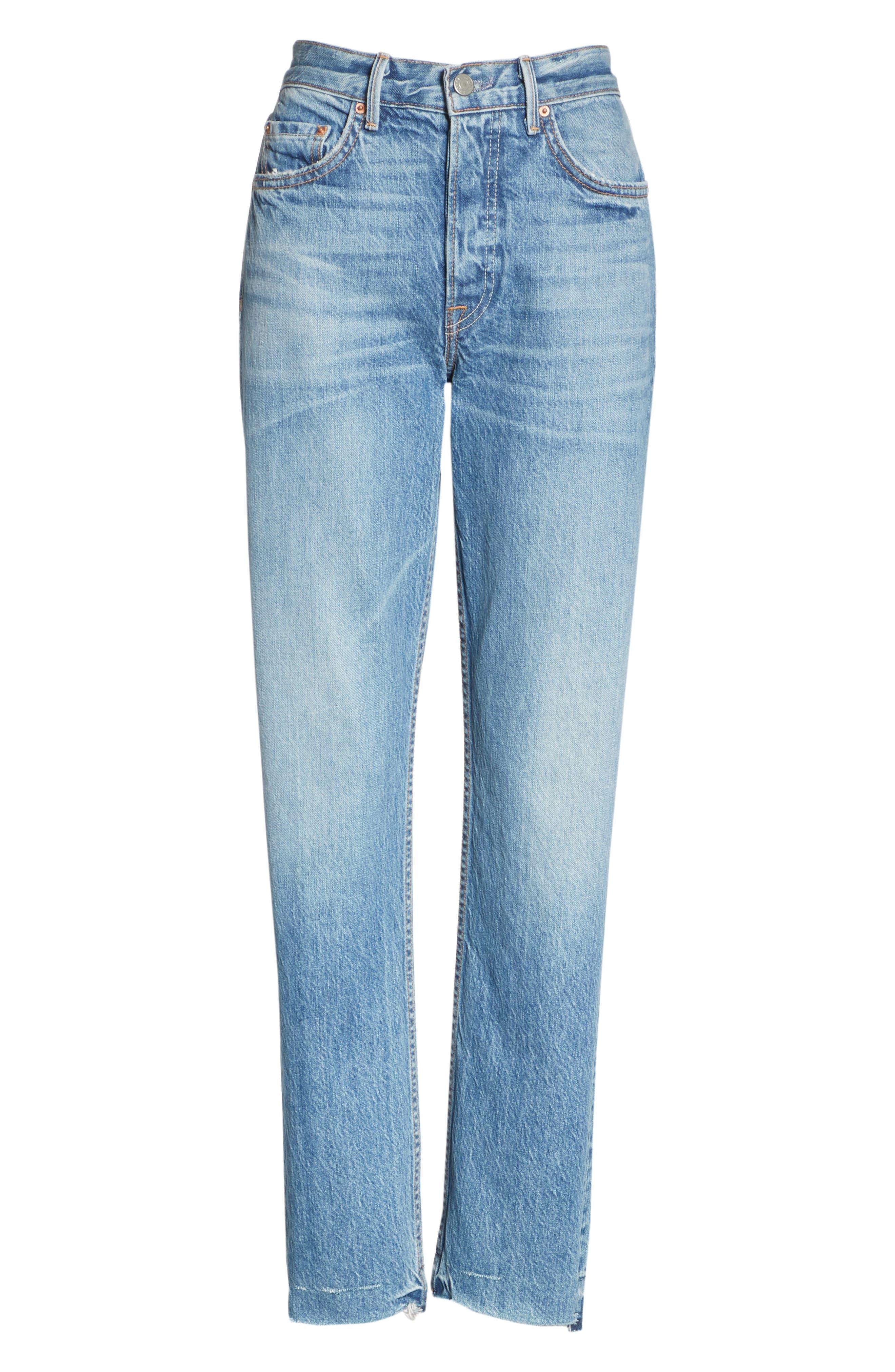 Helena Straight Leg Jeans,                             Alternate thumbnail 6, color,                             GIULIA