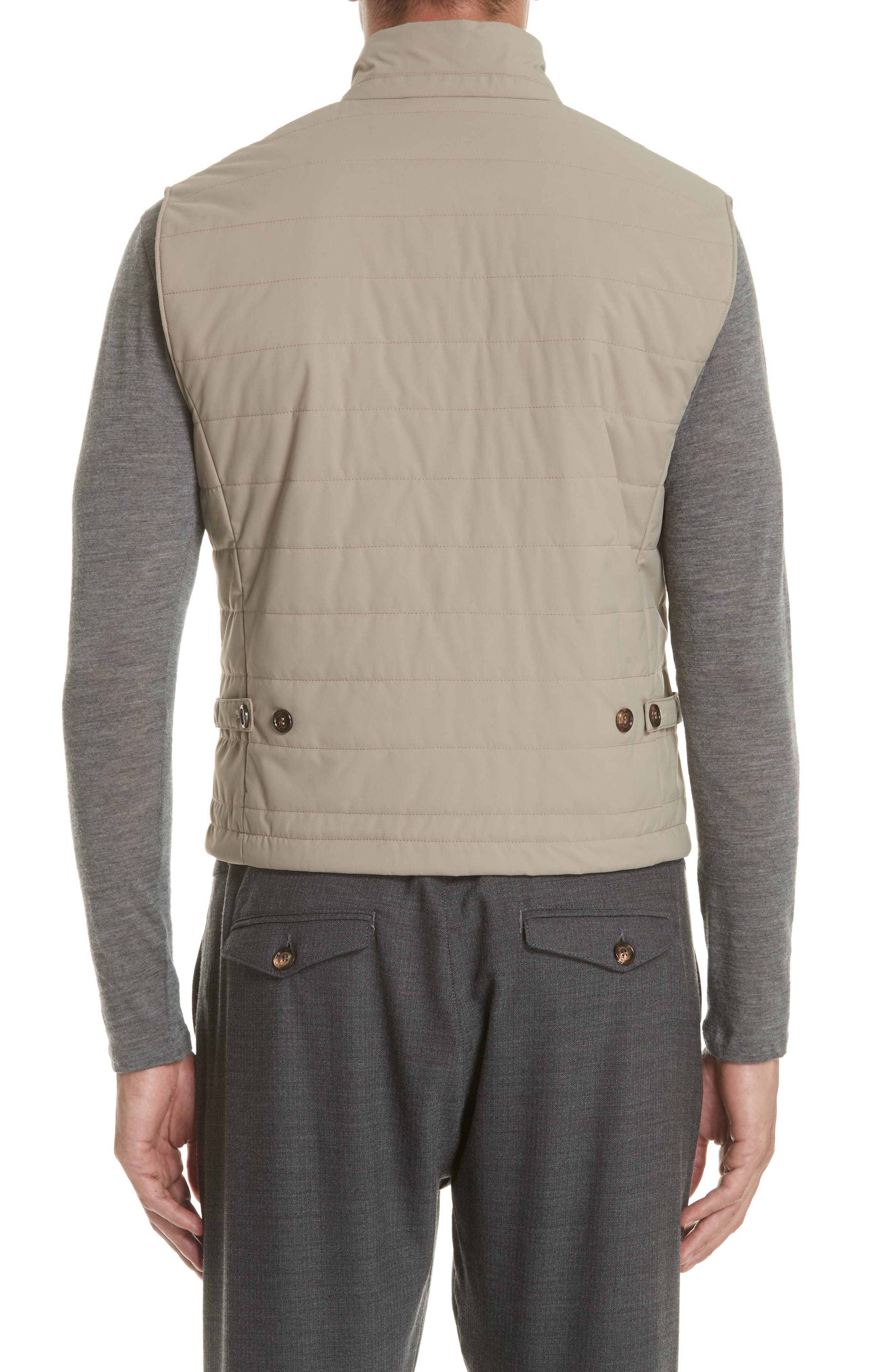 Quilted Vest,                             Alternate thumbnail 2, color,                             TAUPE