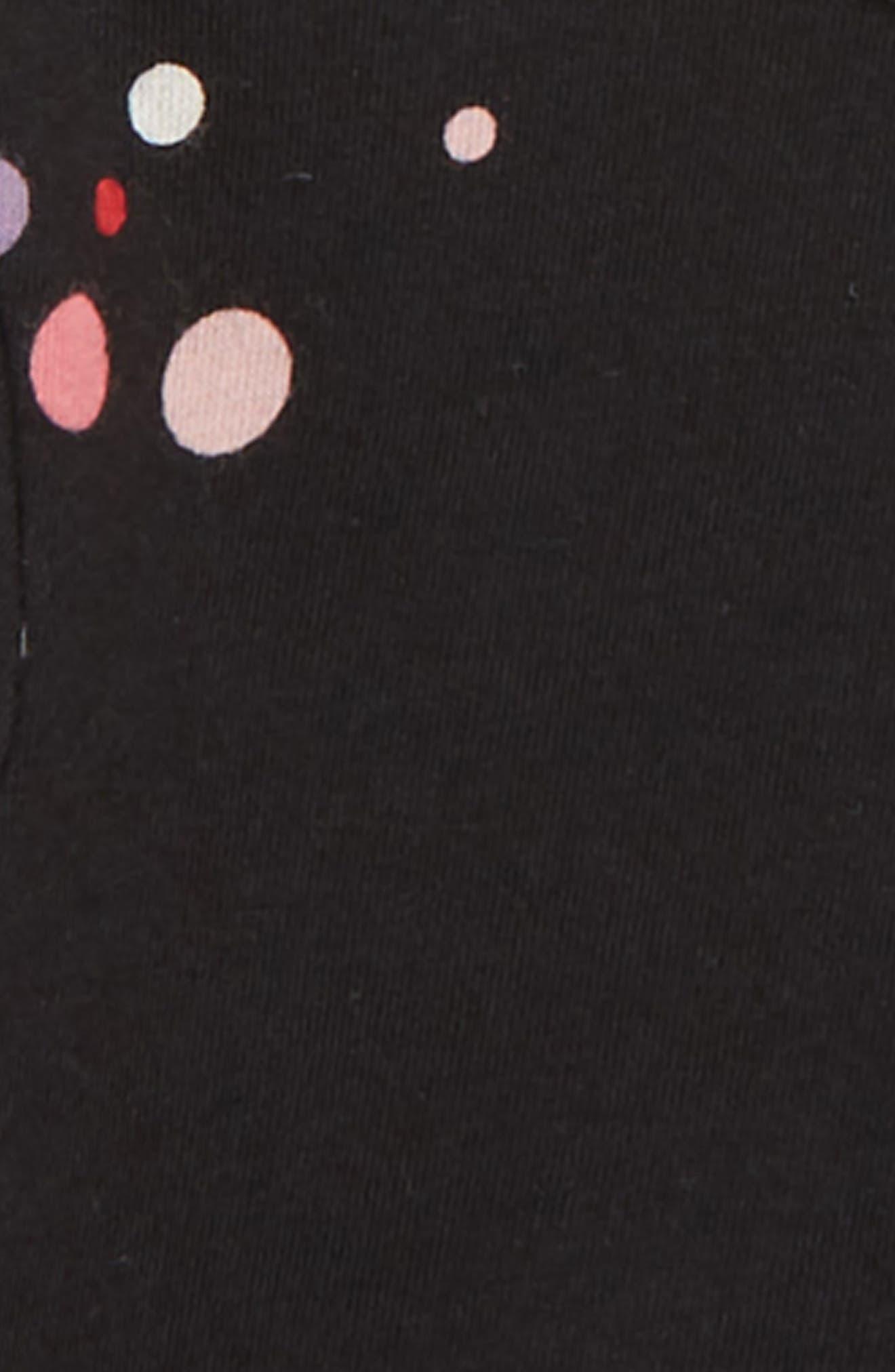 Peplum Tunic,                             Alternate thumbnail 2, color,                             BLACK COLORFUL DOT
