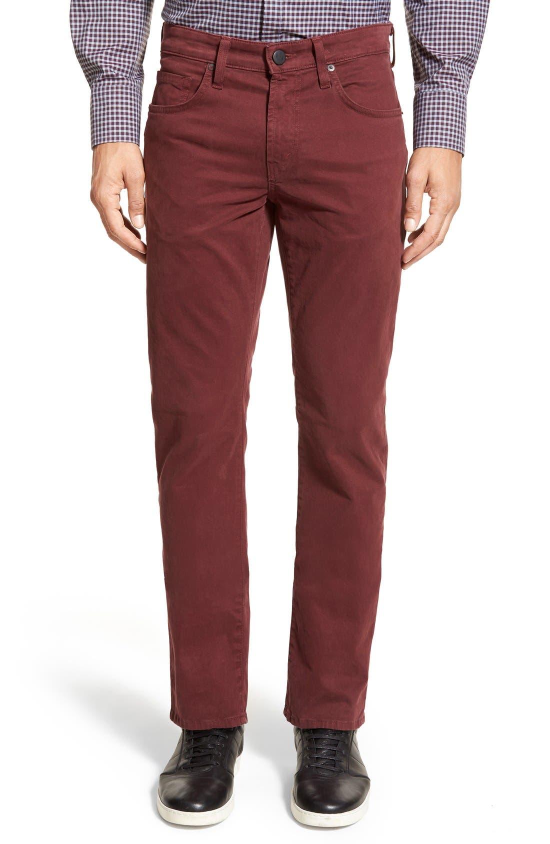 'Kane' Slim Fit Cotton Twill Pants,                             Main thumbnail 20, color,
