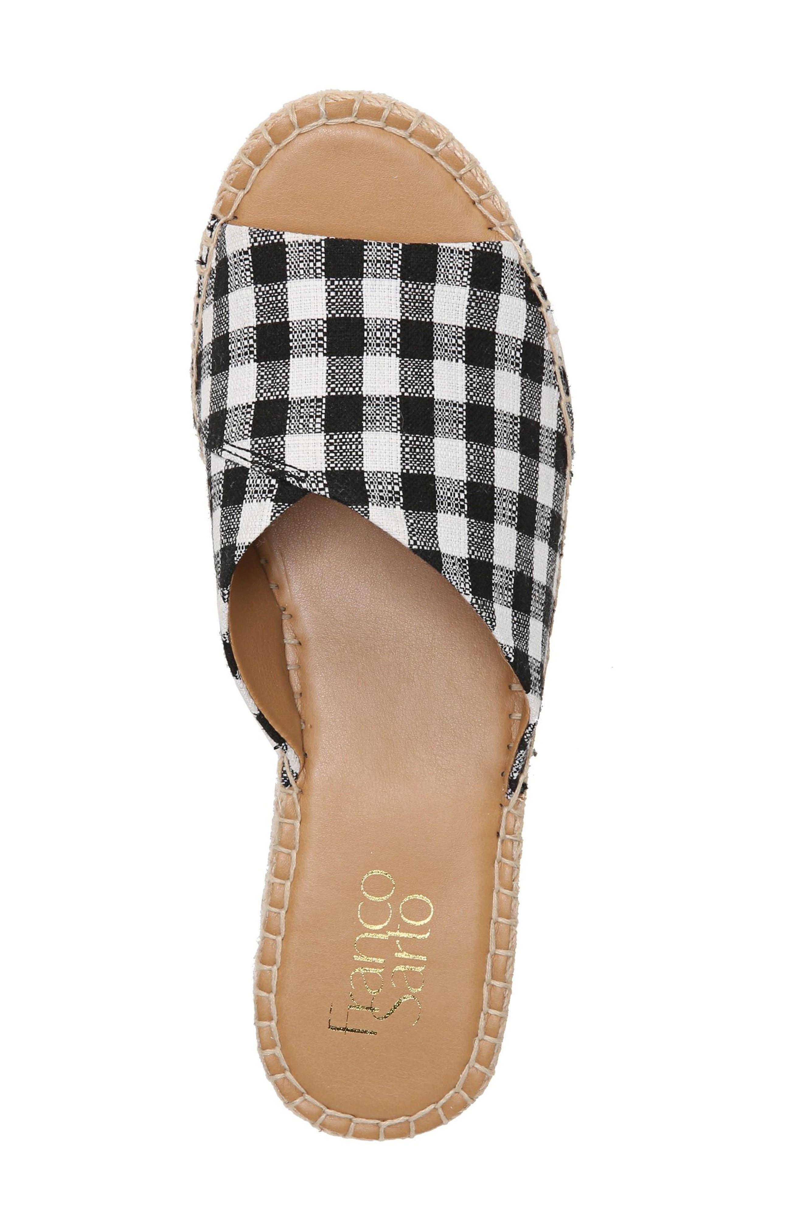 SARTO by Franco Sarto Pinot Platform Wedge Slide Sandal,                             Alternate thumbnail 5, color,                             BLACK/ WHITE