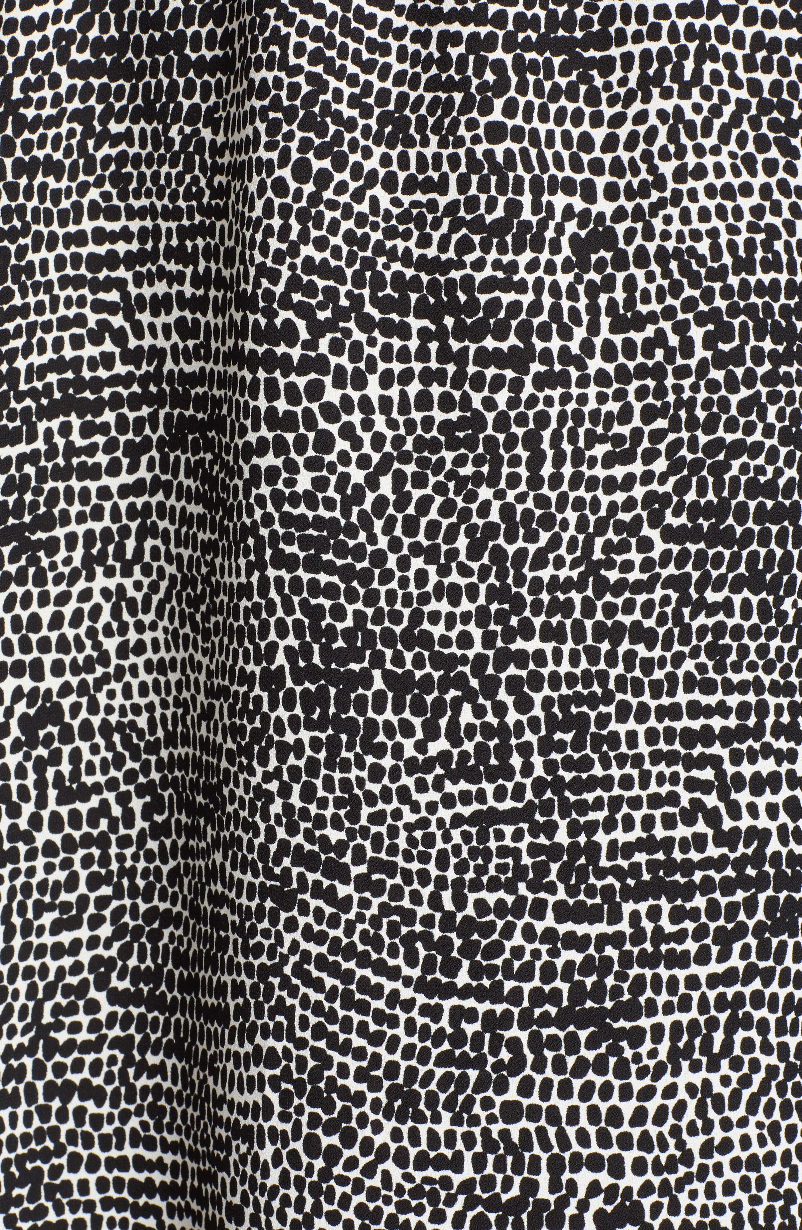Sleeveless Print Midi Dress,                             Alternate thumbnail 5, color,                             ANNE WHITE/ ANNE BLACK