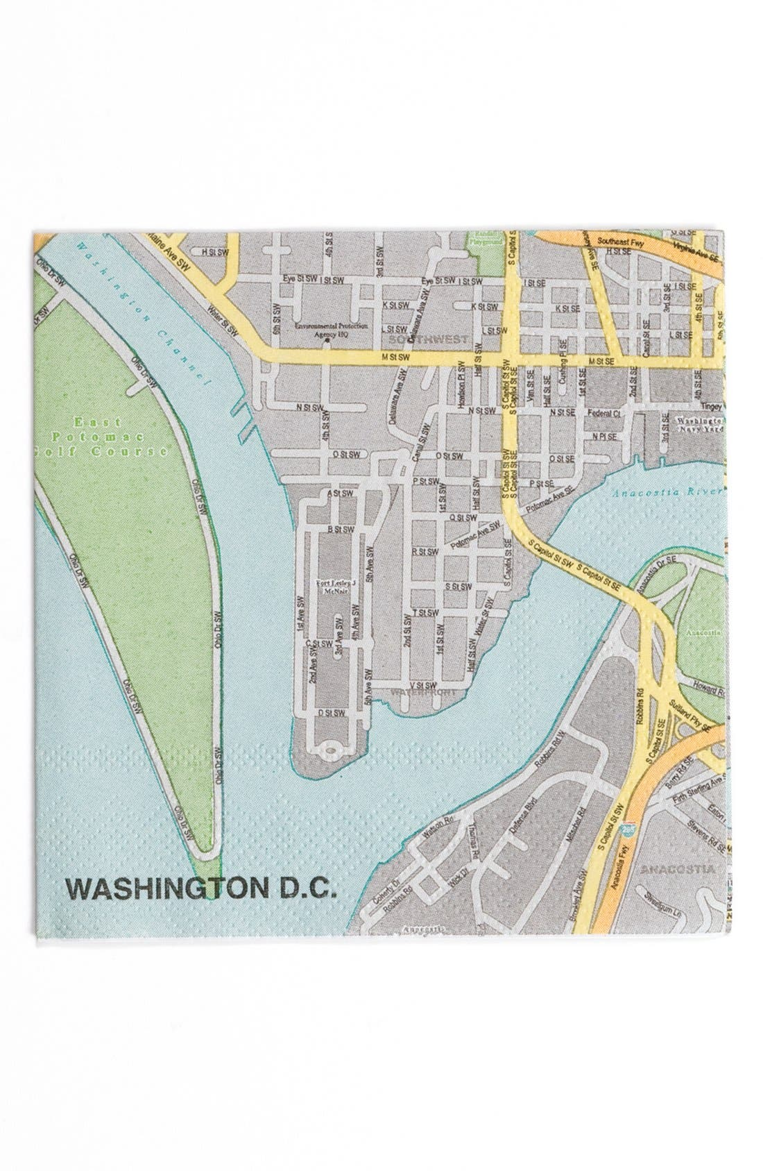 'Washington DC Mapkins' Cocktail Napkins,                             Alternate thumbnail 2, color,                             400