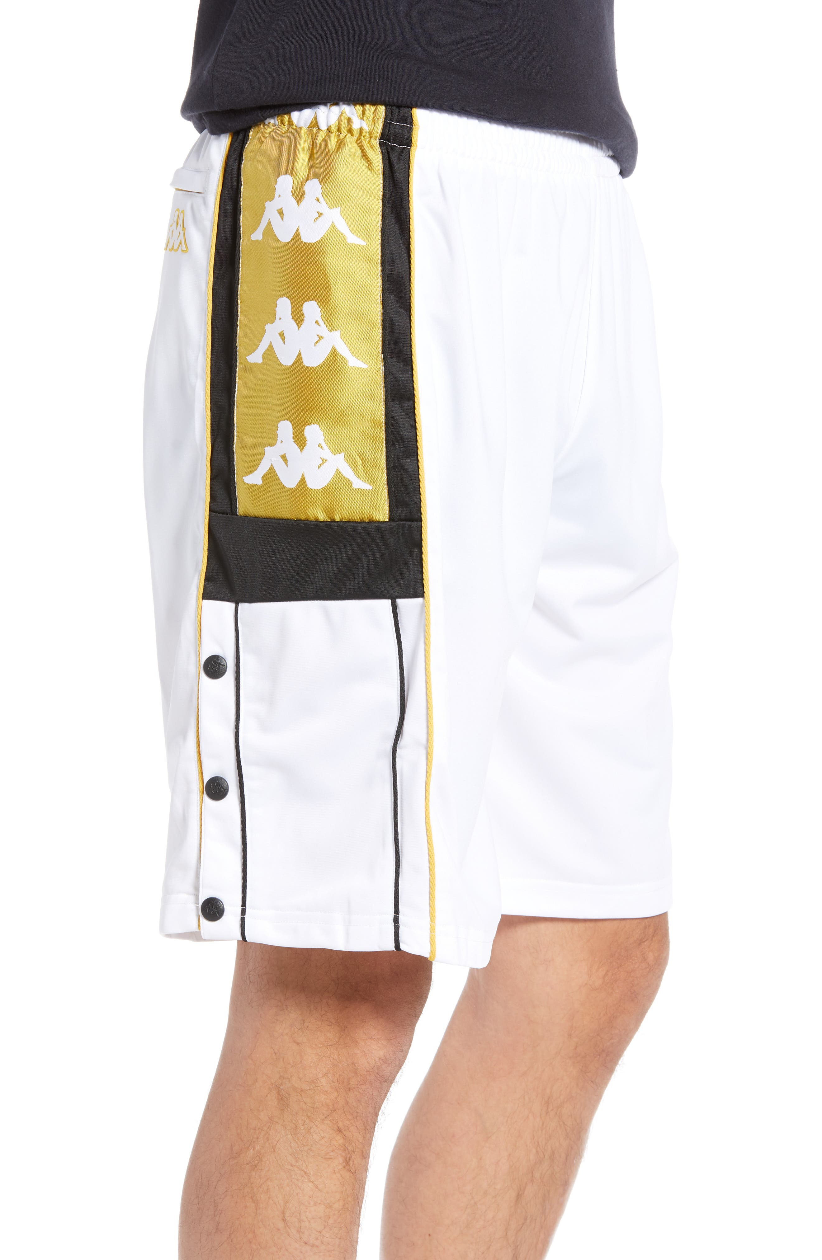 Active Banded Track Shorts,                             Alternate thumbnail 3, color,                             WHITE YELLOW GOLD