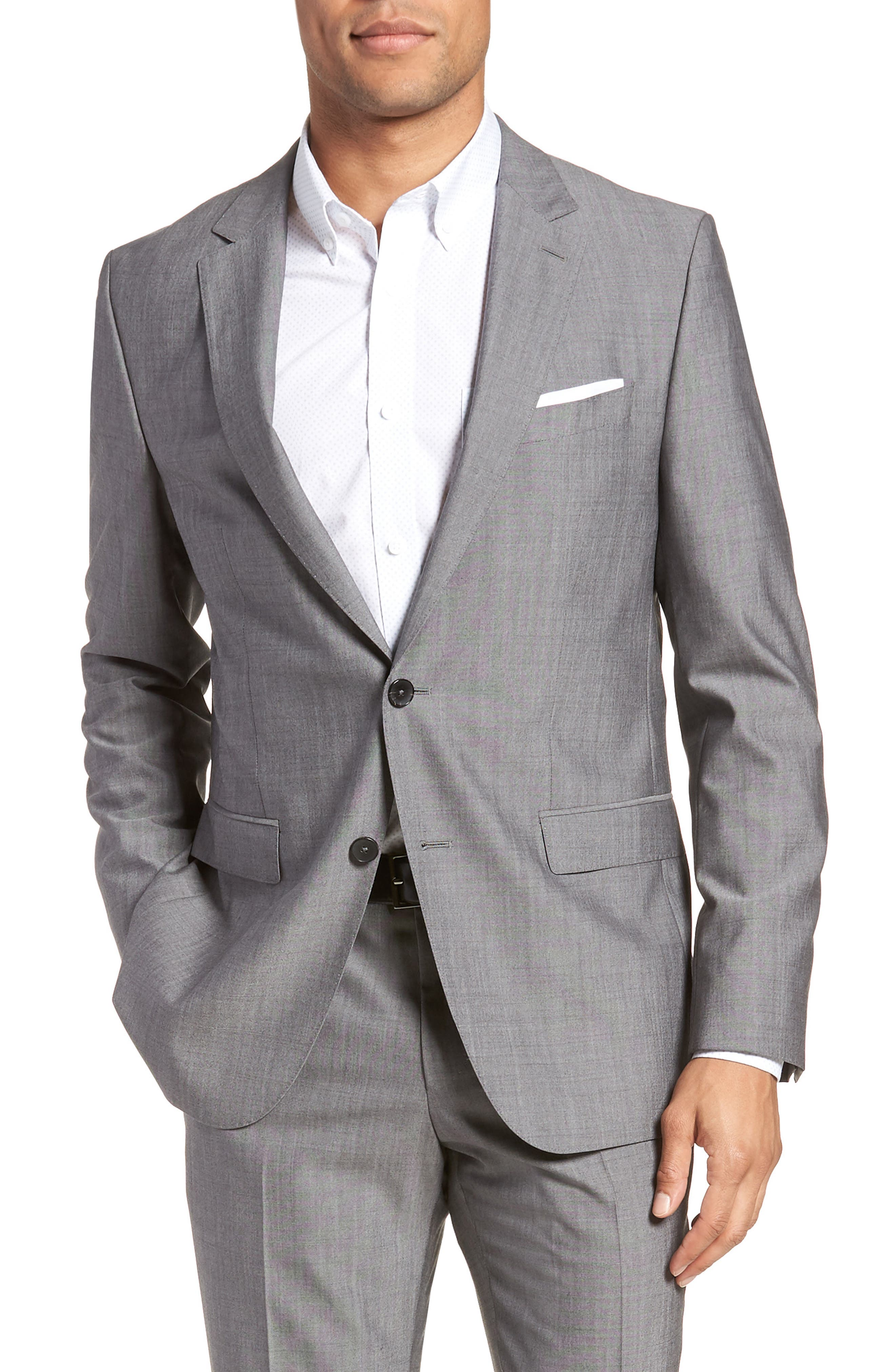 Novan/Ben Trim Fit Solid Wool Suit,                             Alternate thumbnail 5, color,                             069