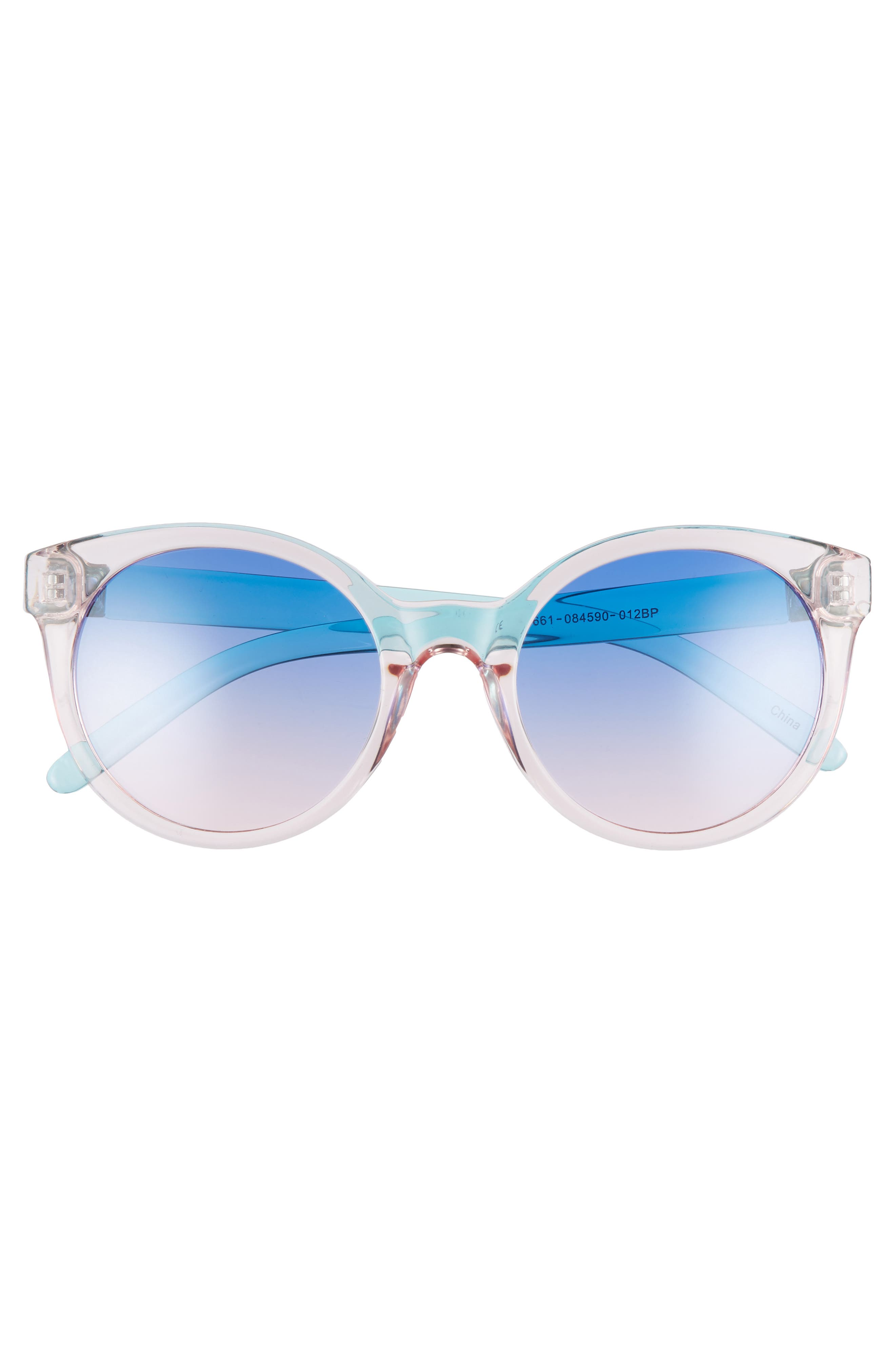 Transparent Round Sunglasses,                             Alternate thumbnail 3, color,                             100