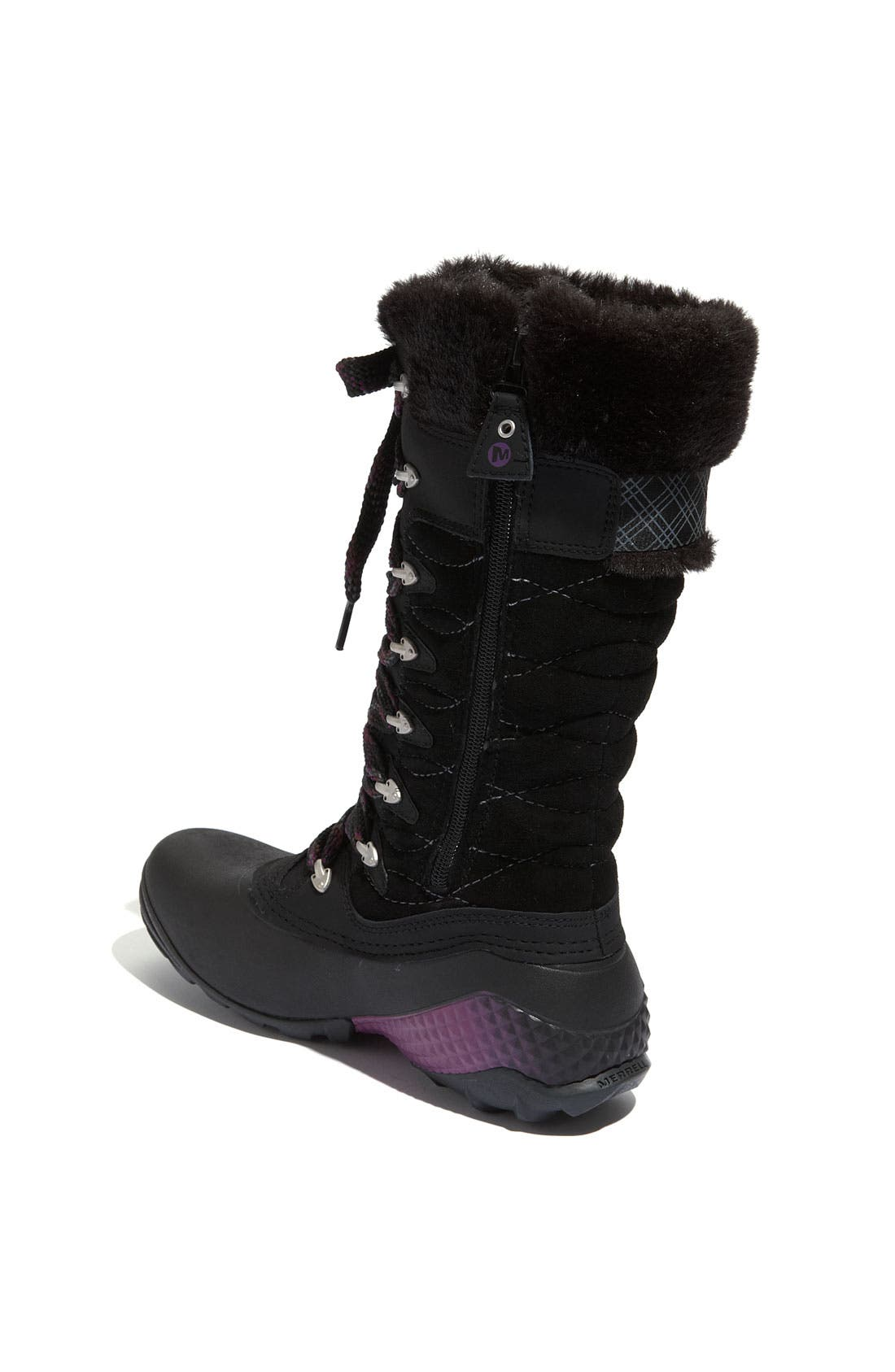 'Winterbelle Peak' Waterproof Boot,                             Alternate thumbnail 4, color,                             001