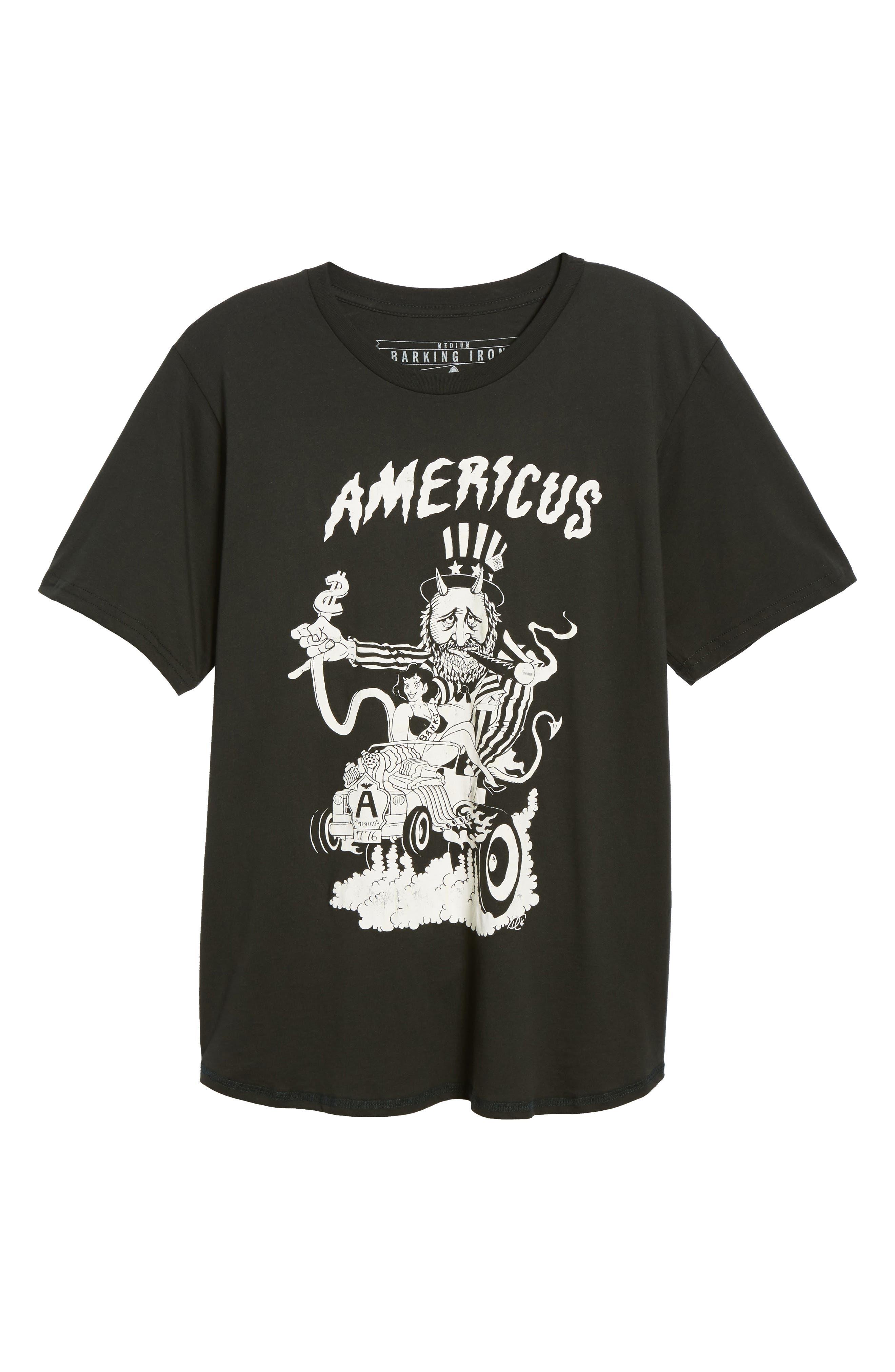 BARKING IRONS,                             Engine Americus Graphic T-Shirt,                             Alternate thumbnail 6, color,                             001
