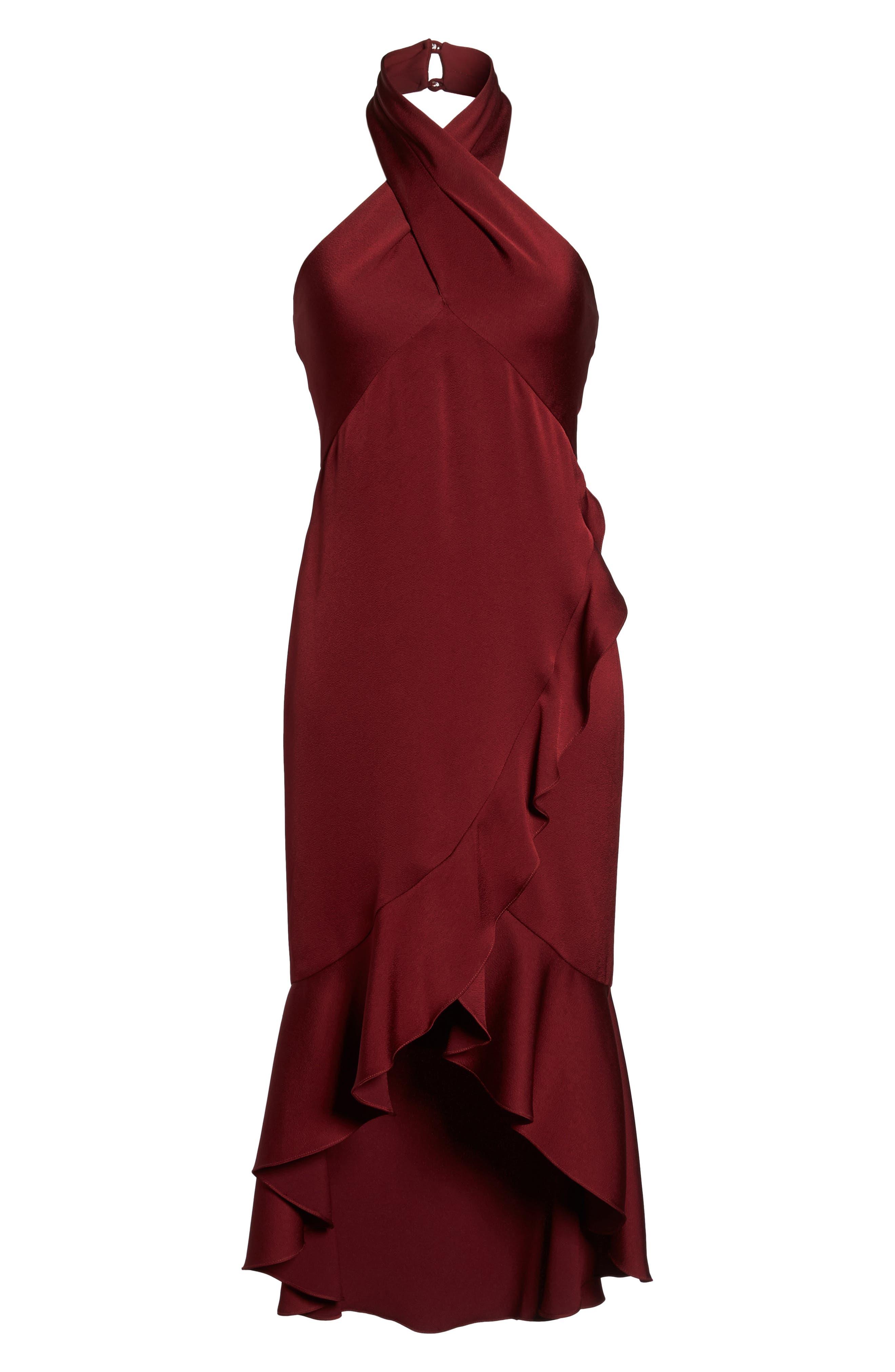 Boswell High/Low Halter Dress,                             Alternate thumbnail 6, color,