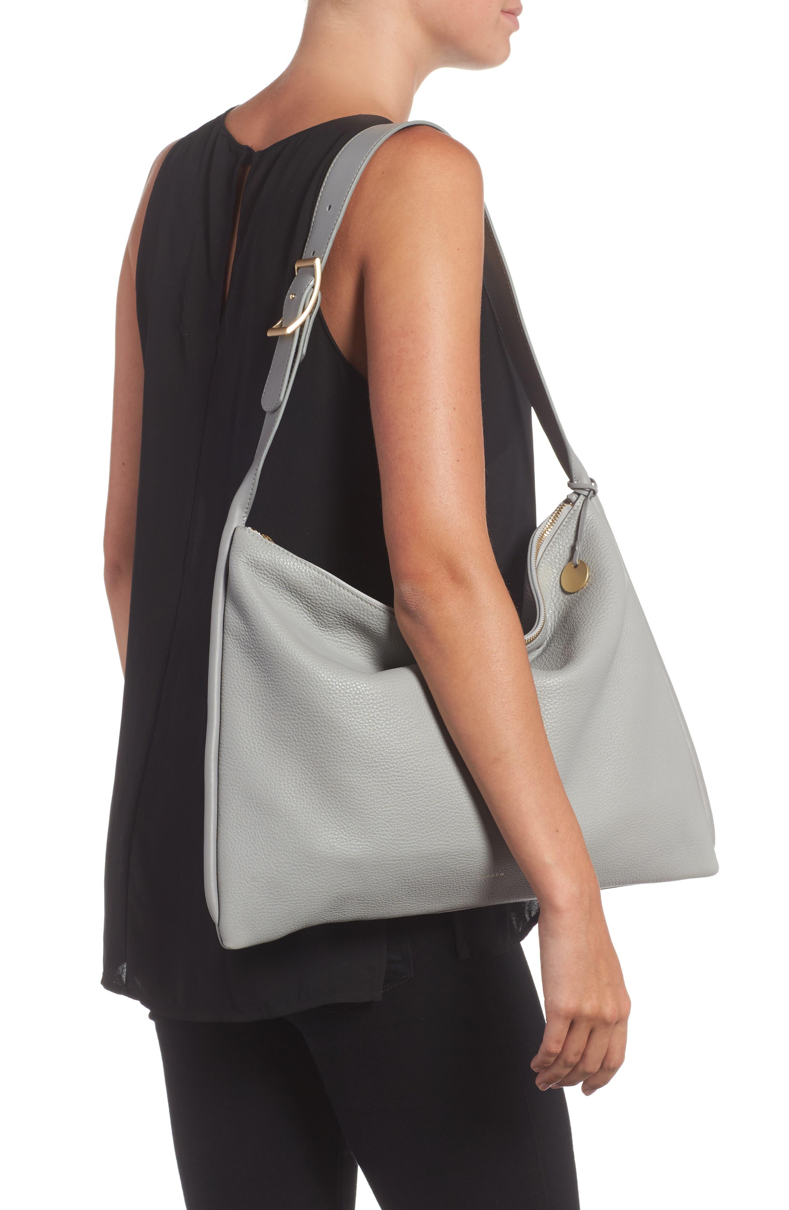 Anesa Leather Shoulder Bag,                             Alternate thumbnail 2, color,                             022