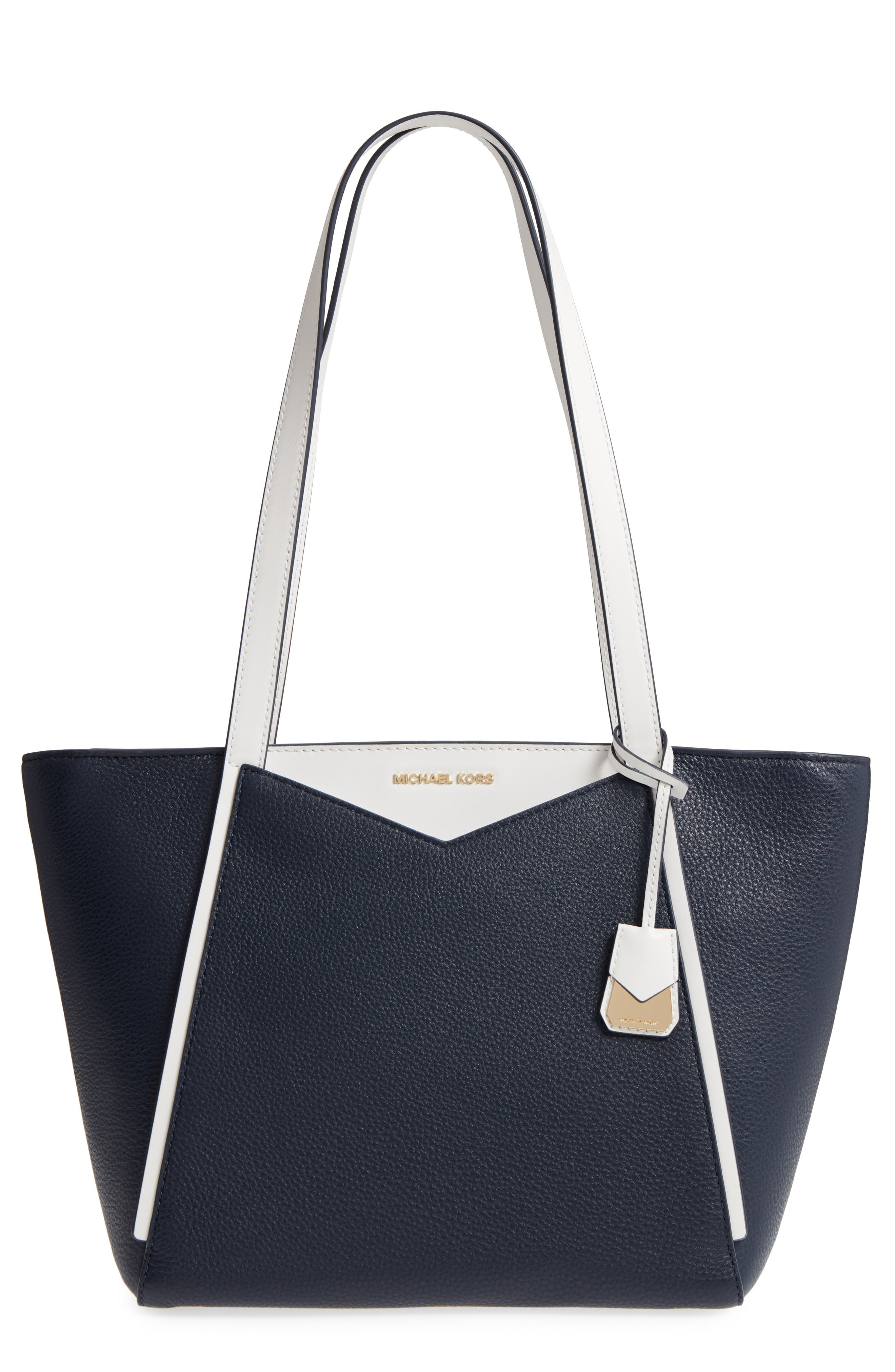 Small Whitney Leather Tote,                             Main thumbnail 3, color,