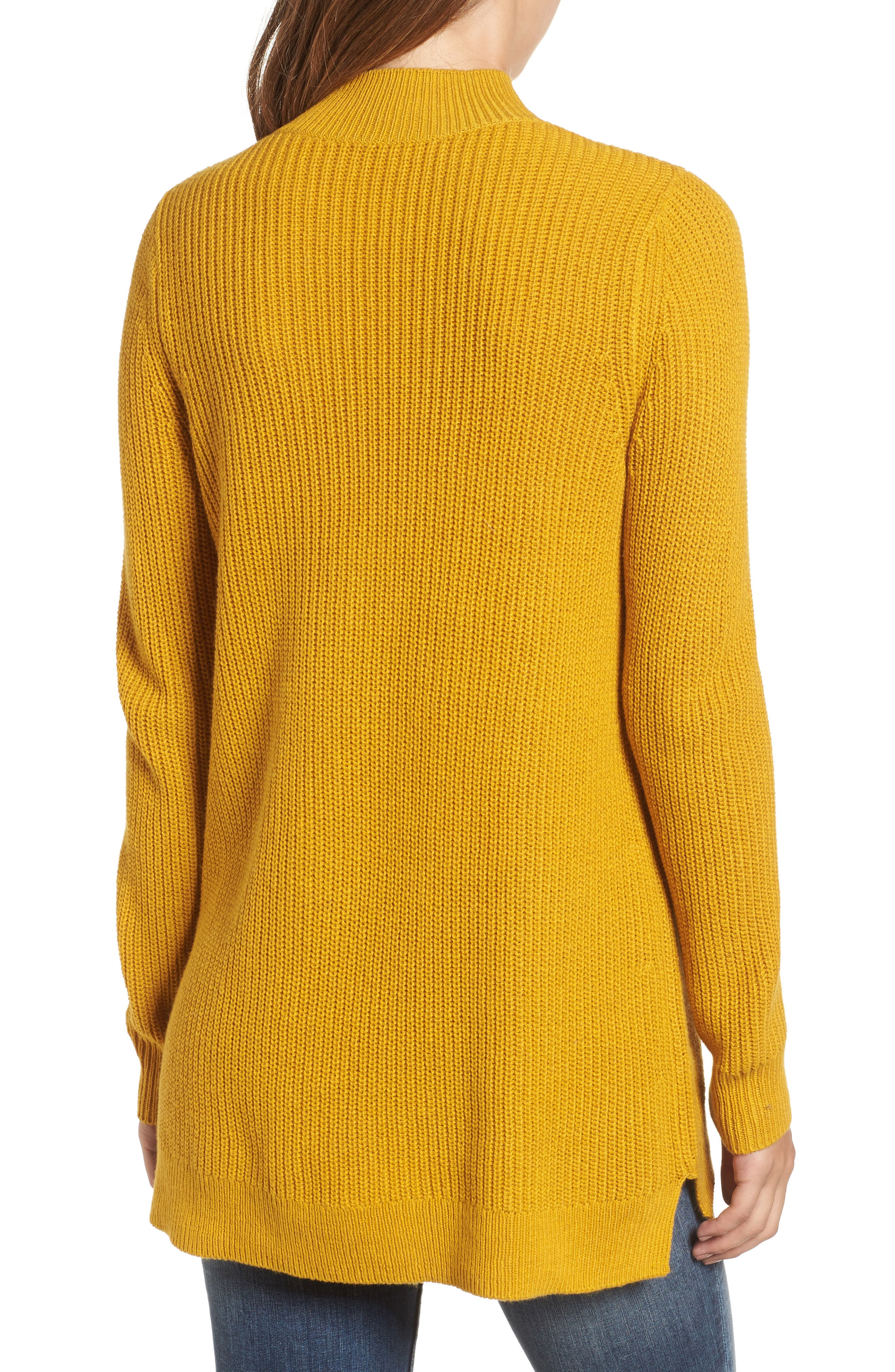 Mock Neck Tunic Sweater,                             Alternate thumbnail 12, color,