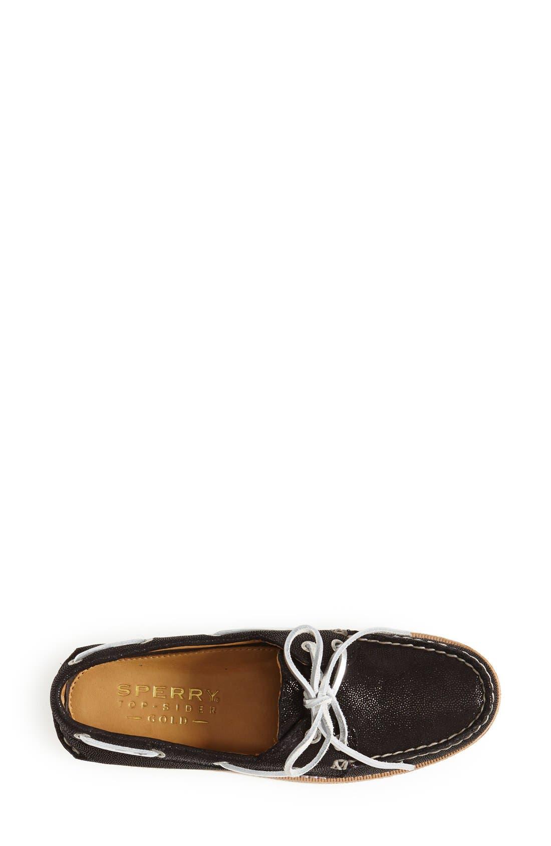 'Authentic Original - Gold Cup' Leather Boat Shoe,                             Alternate thumbnail 3, color,                             001