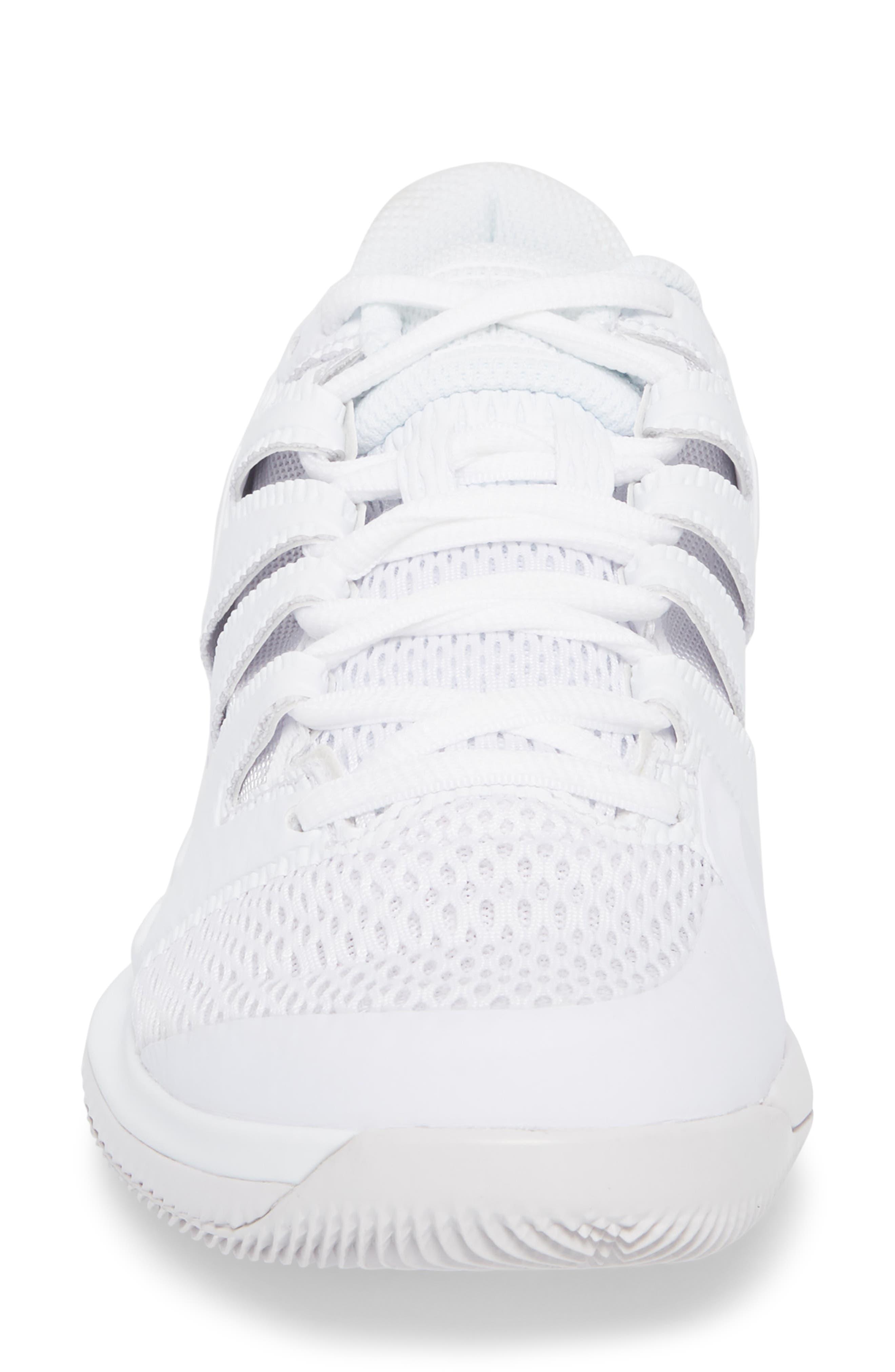 Air Zoom Vapor X Tennis Shoe,                             Alternate thumbnail 4, color,                             WHITE/ WHITE/ VAST GREY