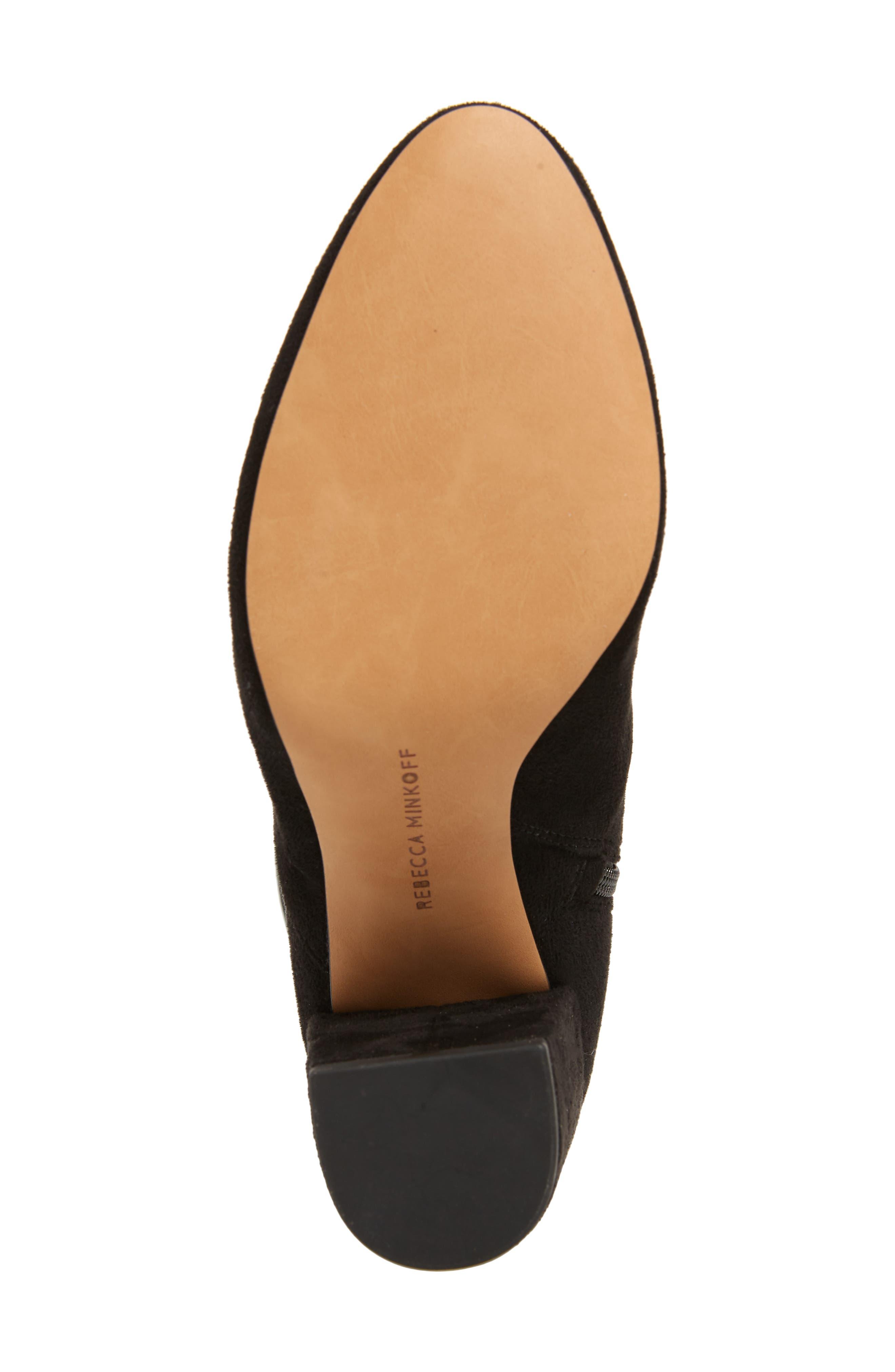 Gillian Knee High Boot,                             Alternate thumbnail 6, color,                             BLACK SUEDE