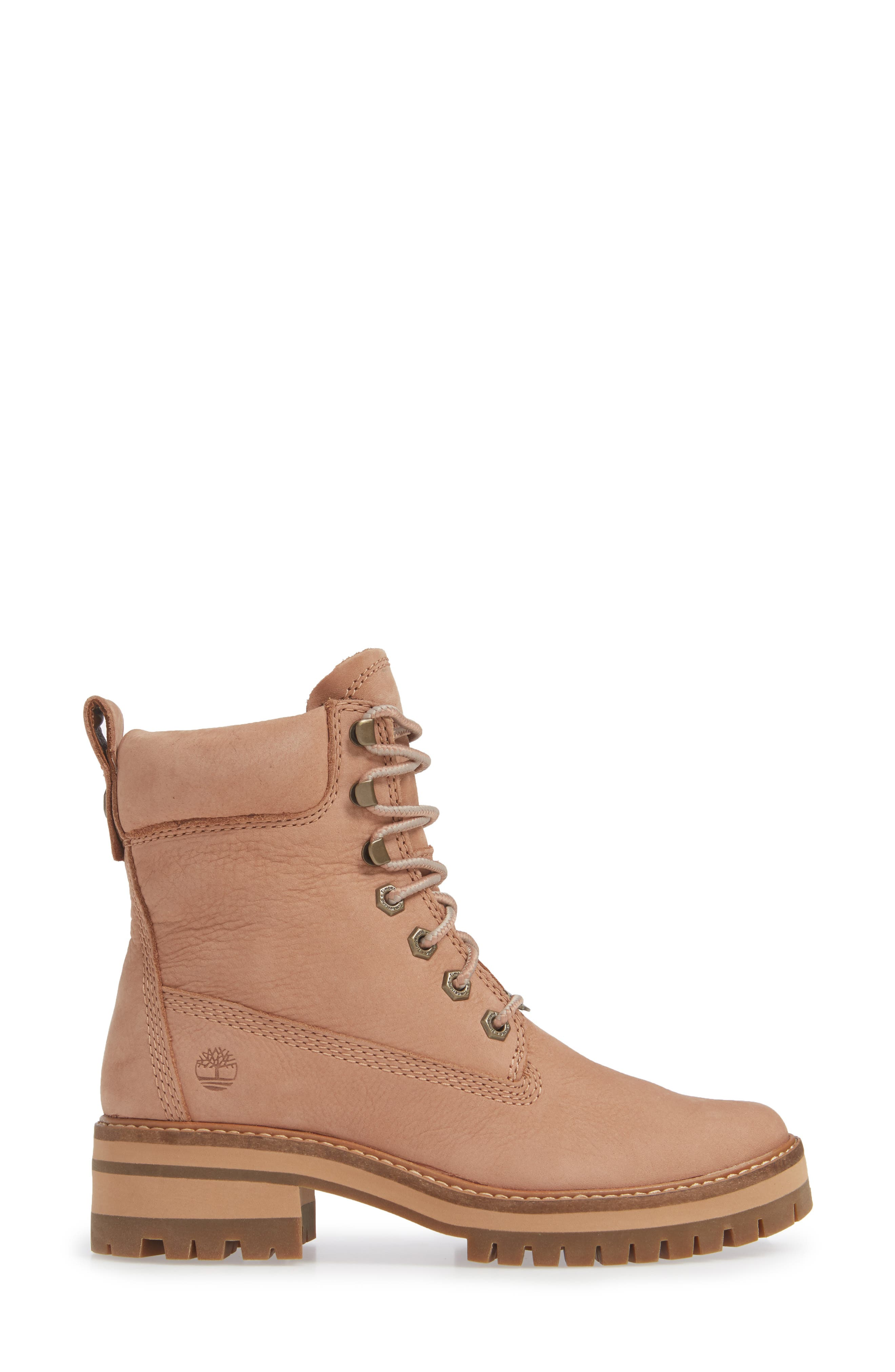 Courmayeur Valley Water Resistant Hiking Boot,                             Alternate thumbnail 3, color,                             TAWNY BROWN NUBUCK