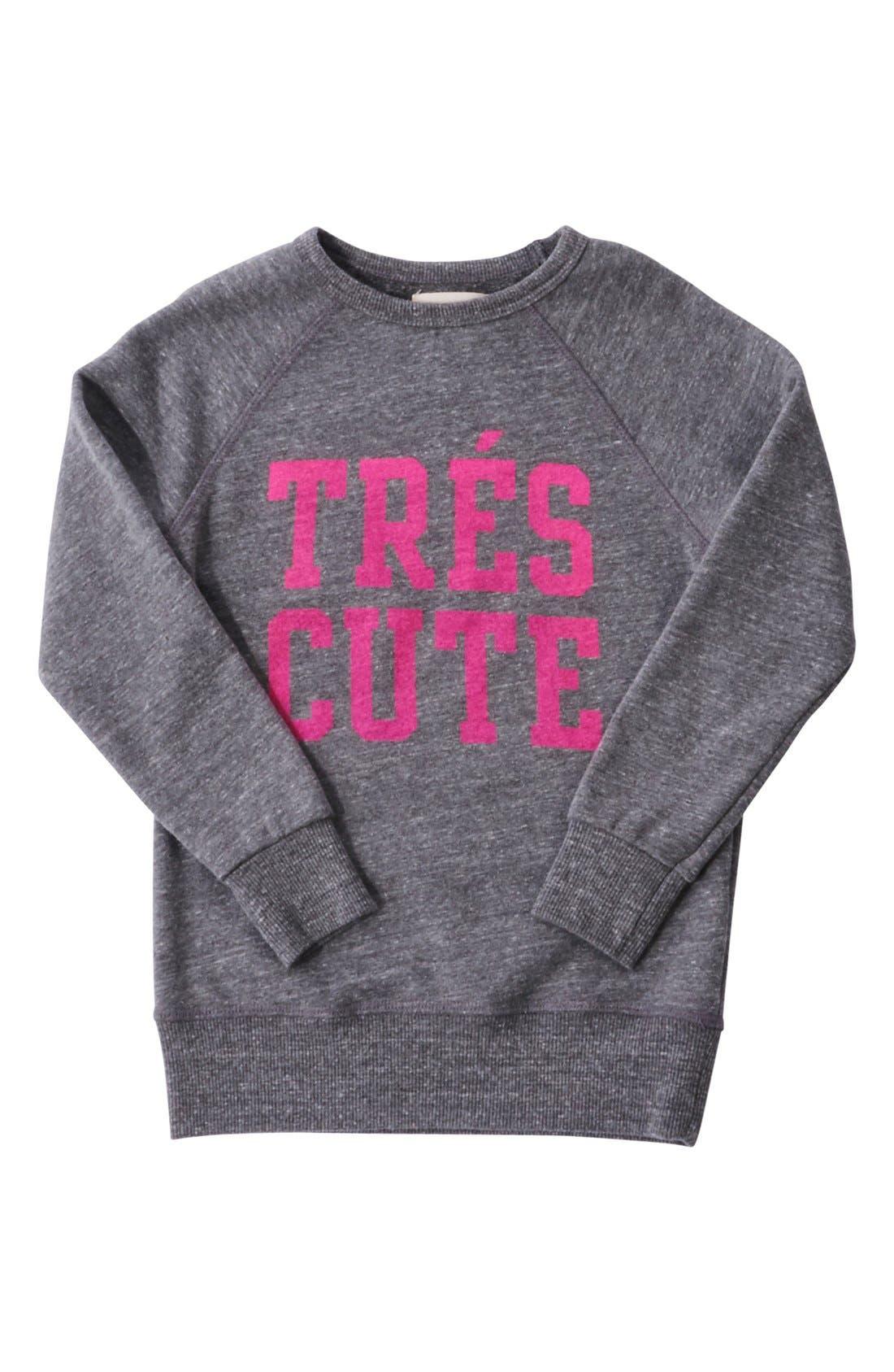 'Très Cute' Graphic Sweatshirt,                             Alternate thumbnail 2, color,