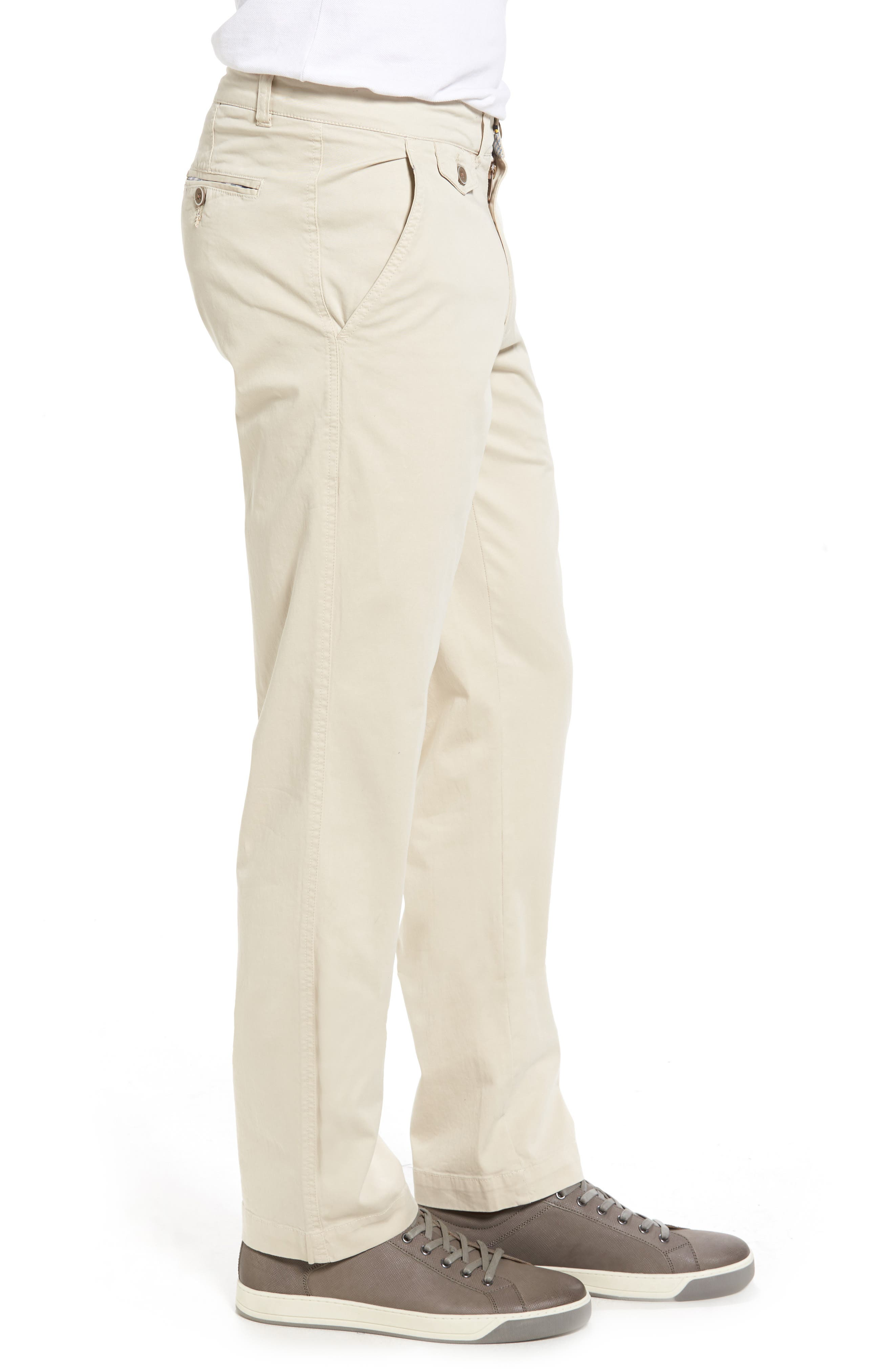 Sunny Modern Fit Stretch Twill Chinos,                             Alternate thumbnail 3, color,                             STONE