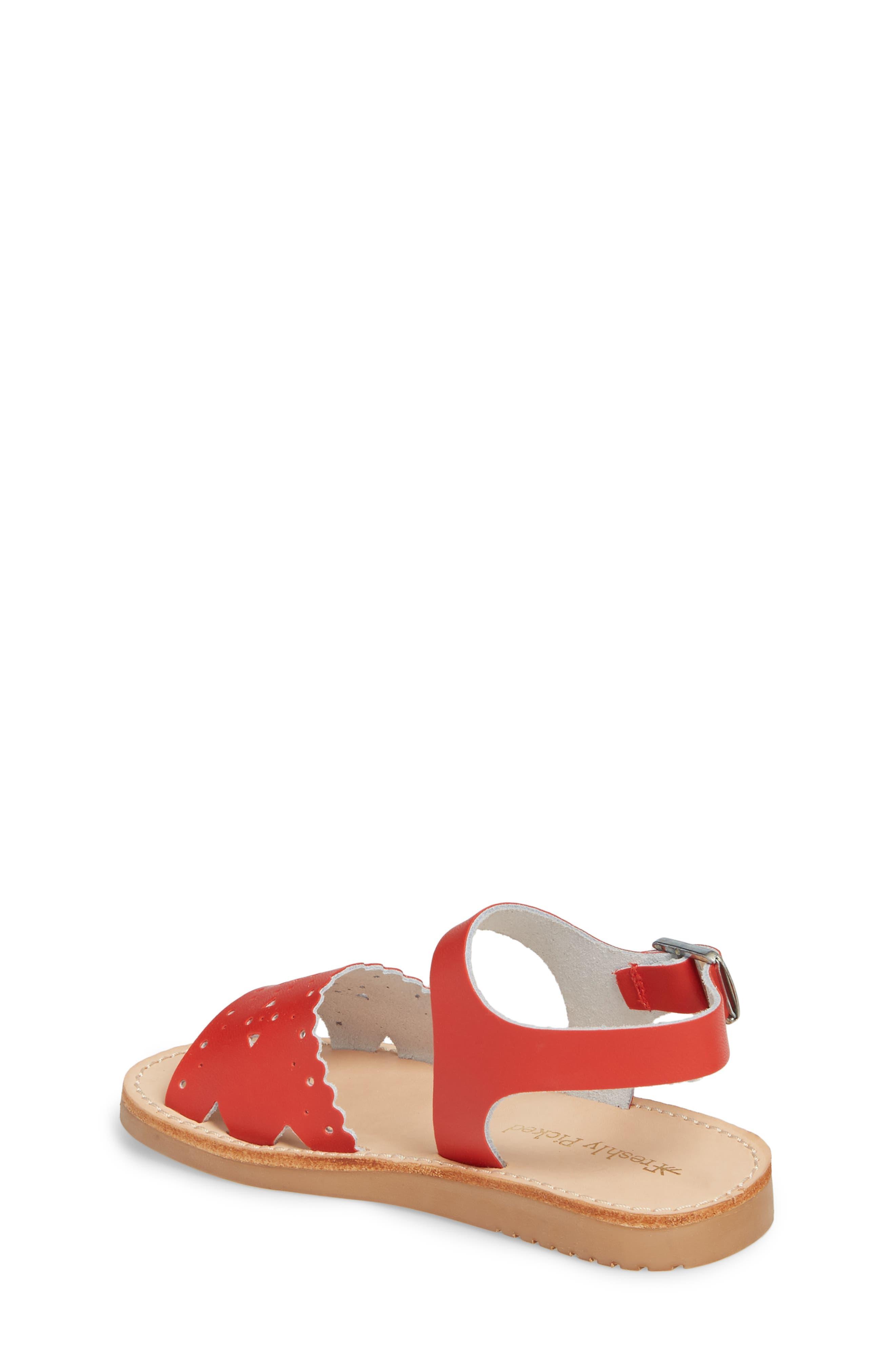 Laguna Water Resistant Perforated Sandal,                             Alternate thumbnail 2, color,                             CHERRY