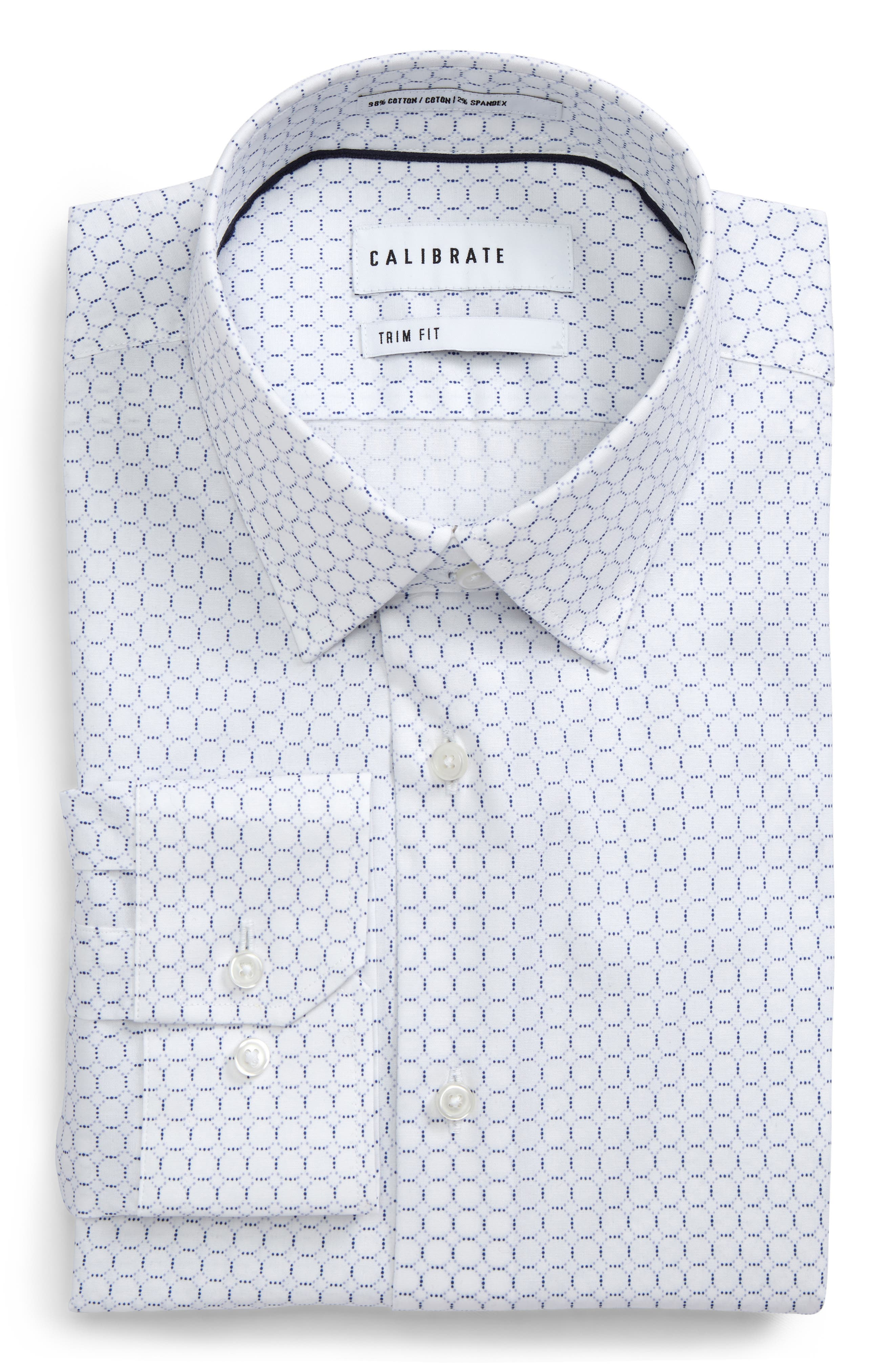 Trim Fit Circle Print Dress Shirt,                             Main thumbnail 1, color,