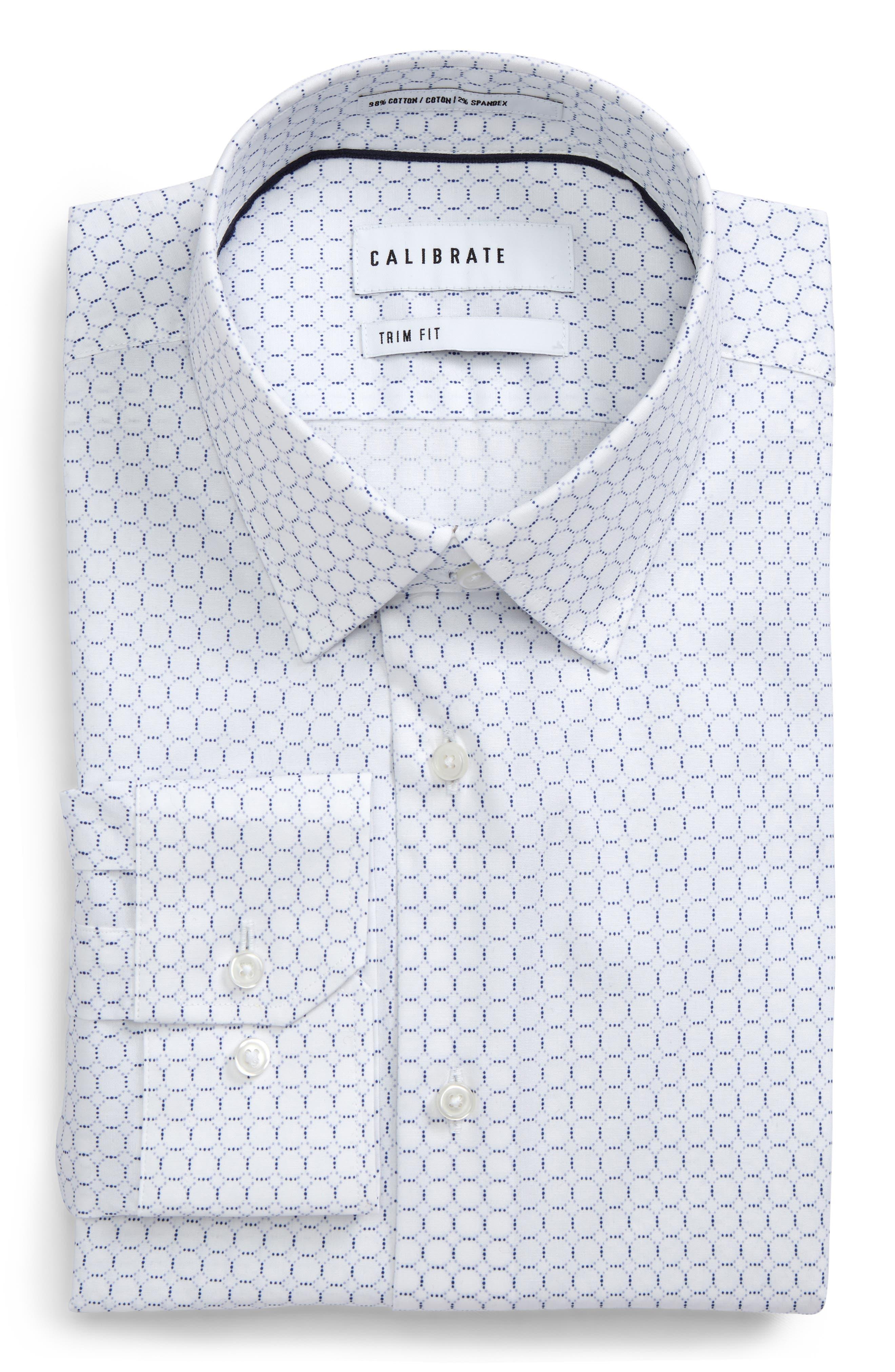 Trim Fit Circle Print Dress Shirt,                         Main,                         color,