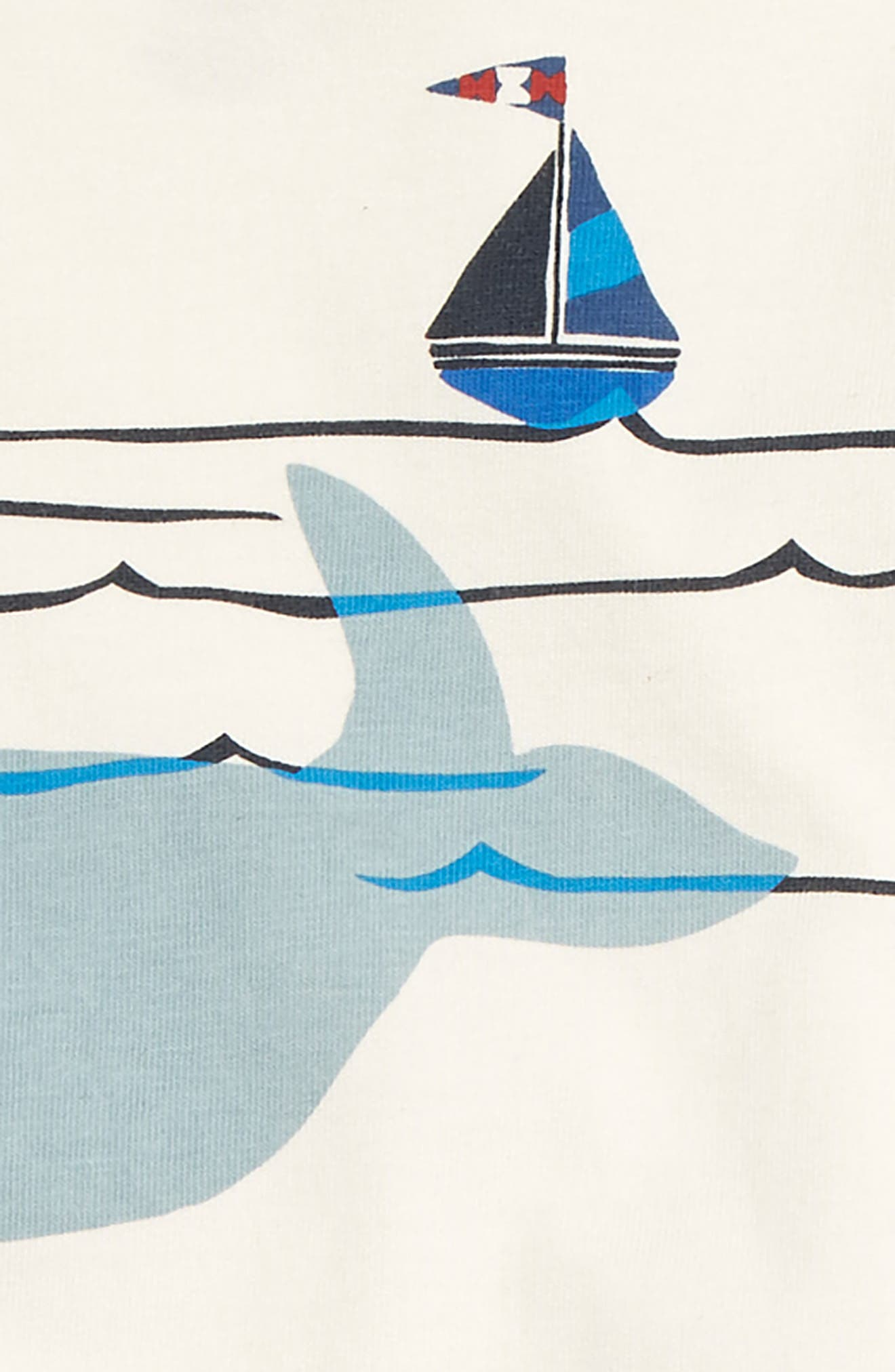 Diving Whale Graphic Shirt & Sweatpants Set,                             Alternate thumbnail 2, color,                             CHALK
