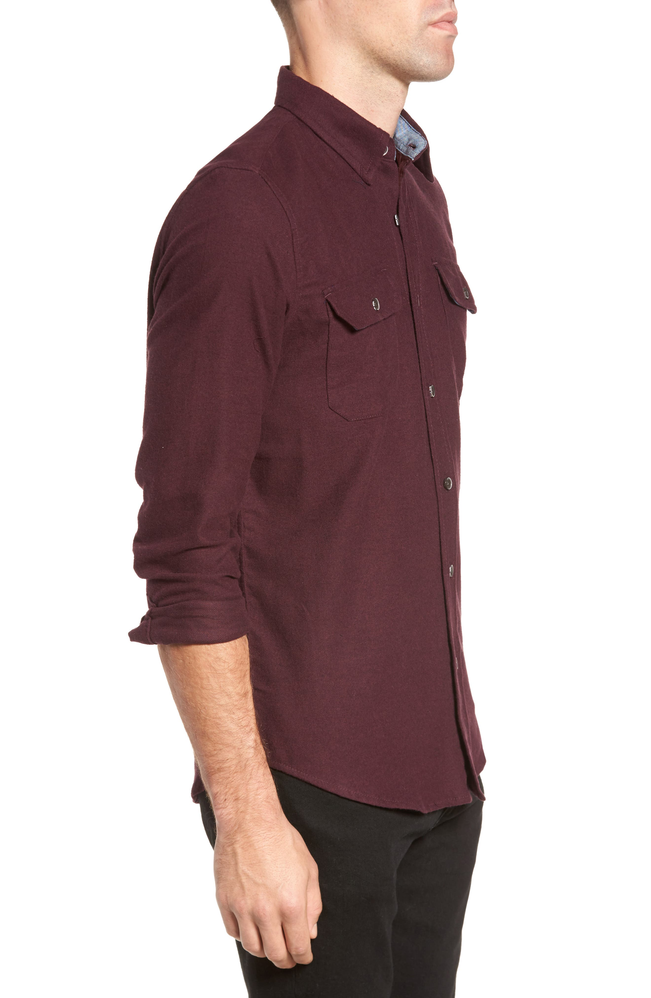 Heather Flannel Shirt,                             Alternate thumbnail 6, color,