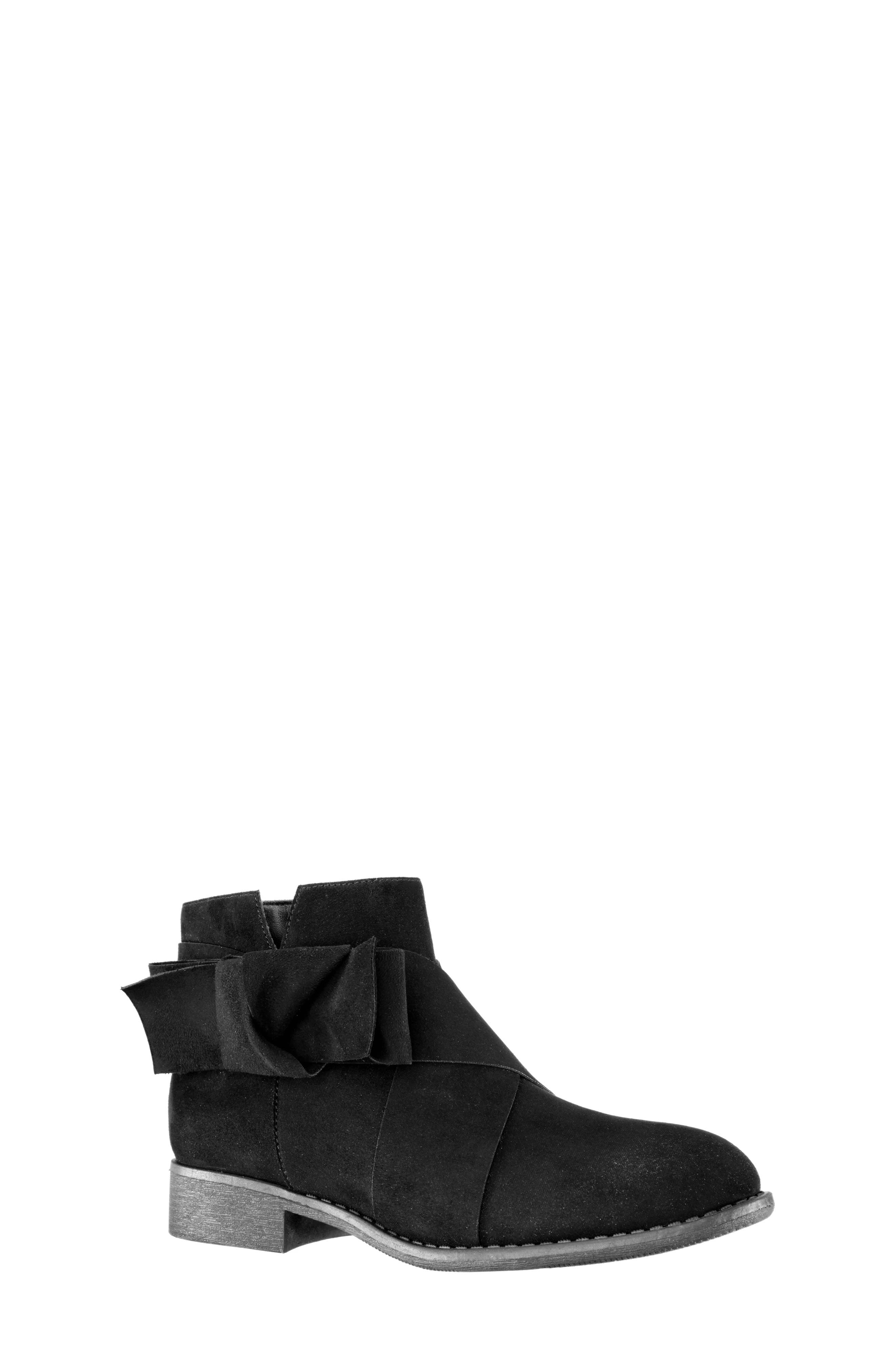 Dollee Bootie,                             Main thumbnail 1, color,                             BLACK MICRO SUEDE