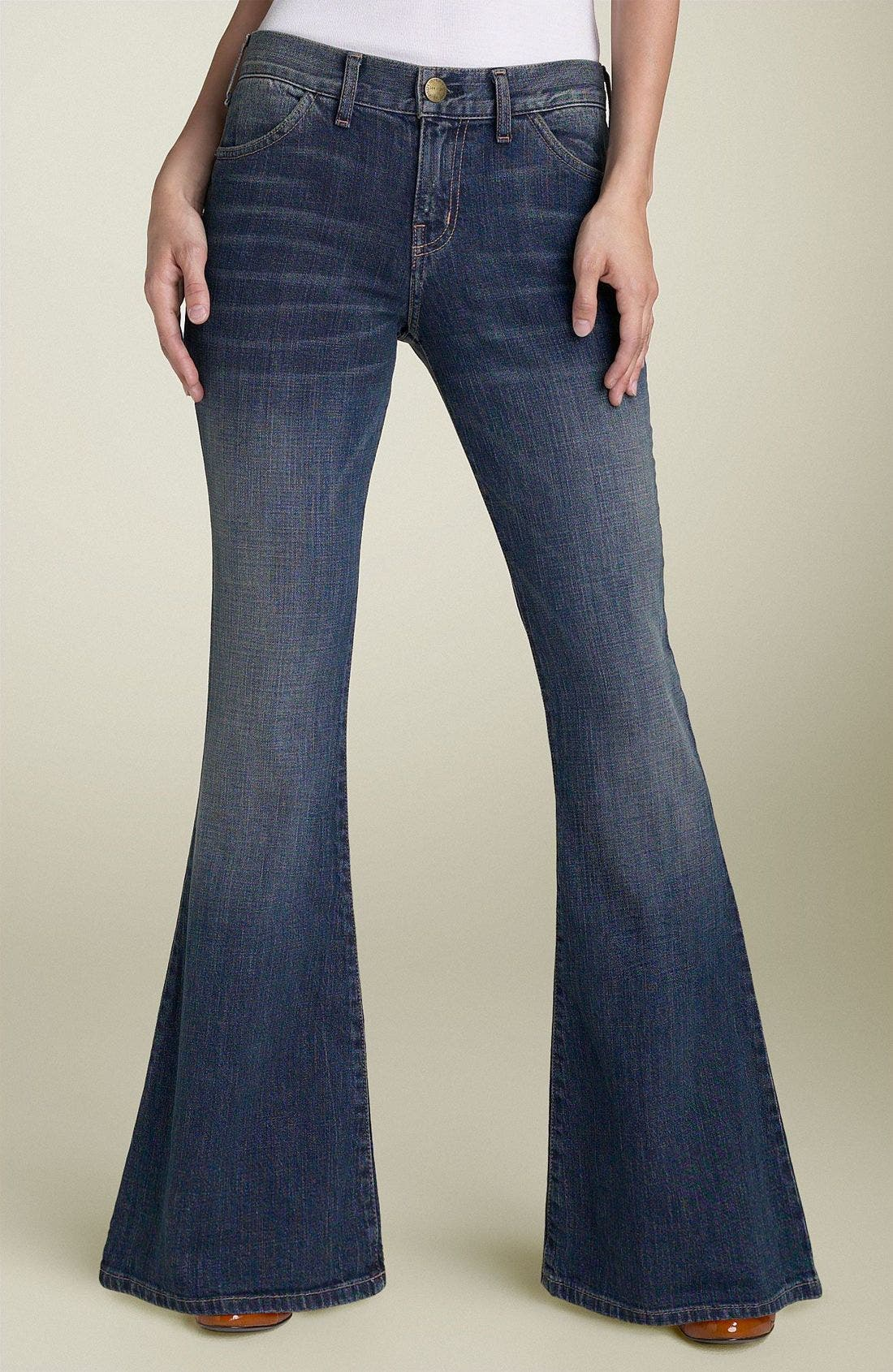 CURRENT/ELLIOTT 'The Elephant Bell' Flare Leg Stretch Jeans, Main, color, 465