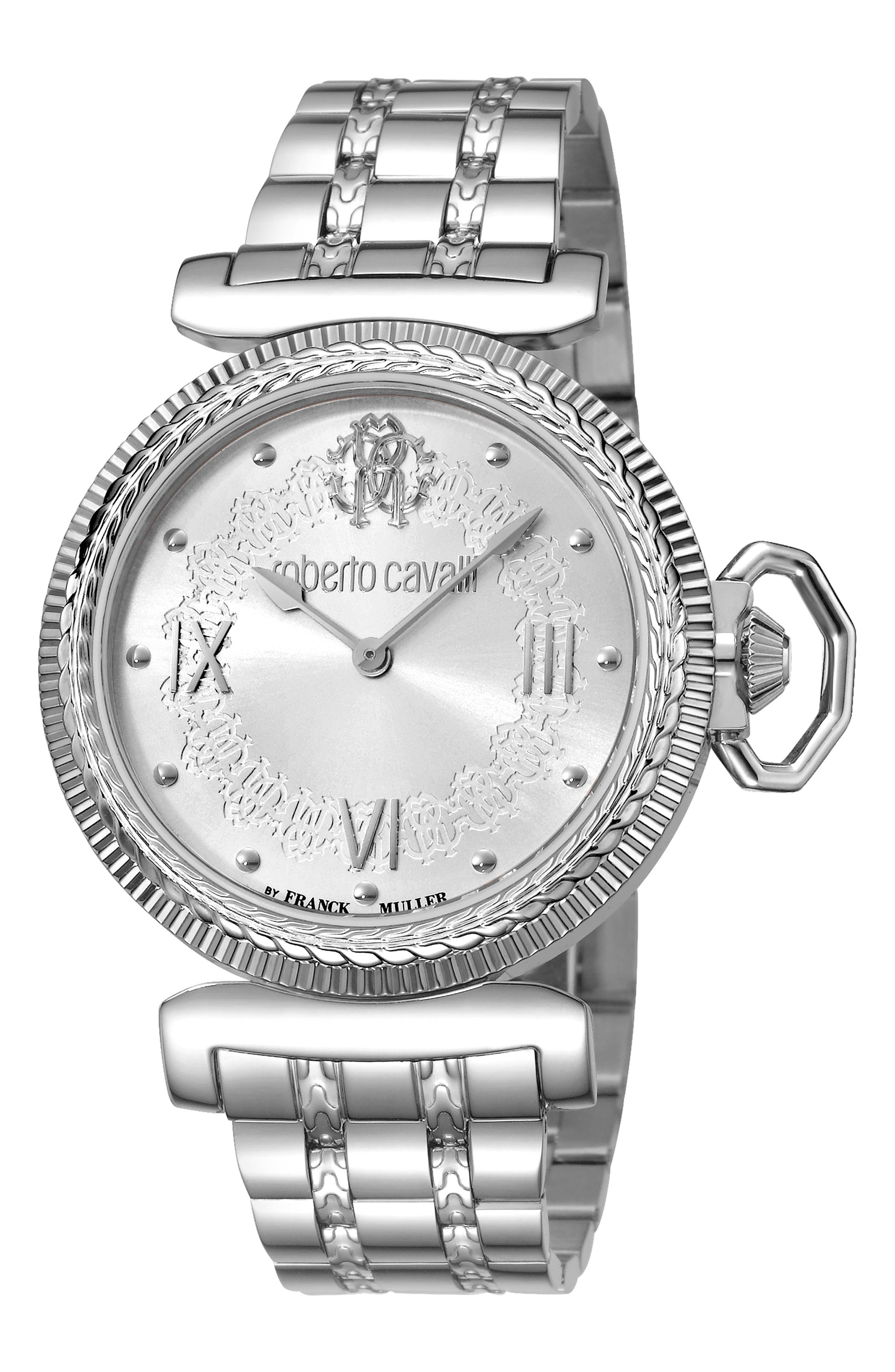 ROBERTO CAVALLI BY FRANCK MULLER Classic Bracelet Watch, 38Mm in Silver