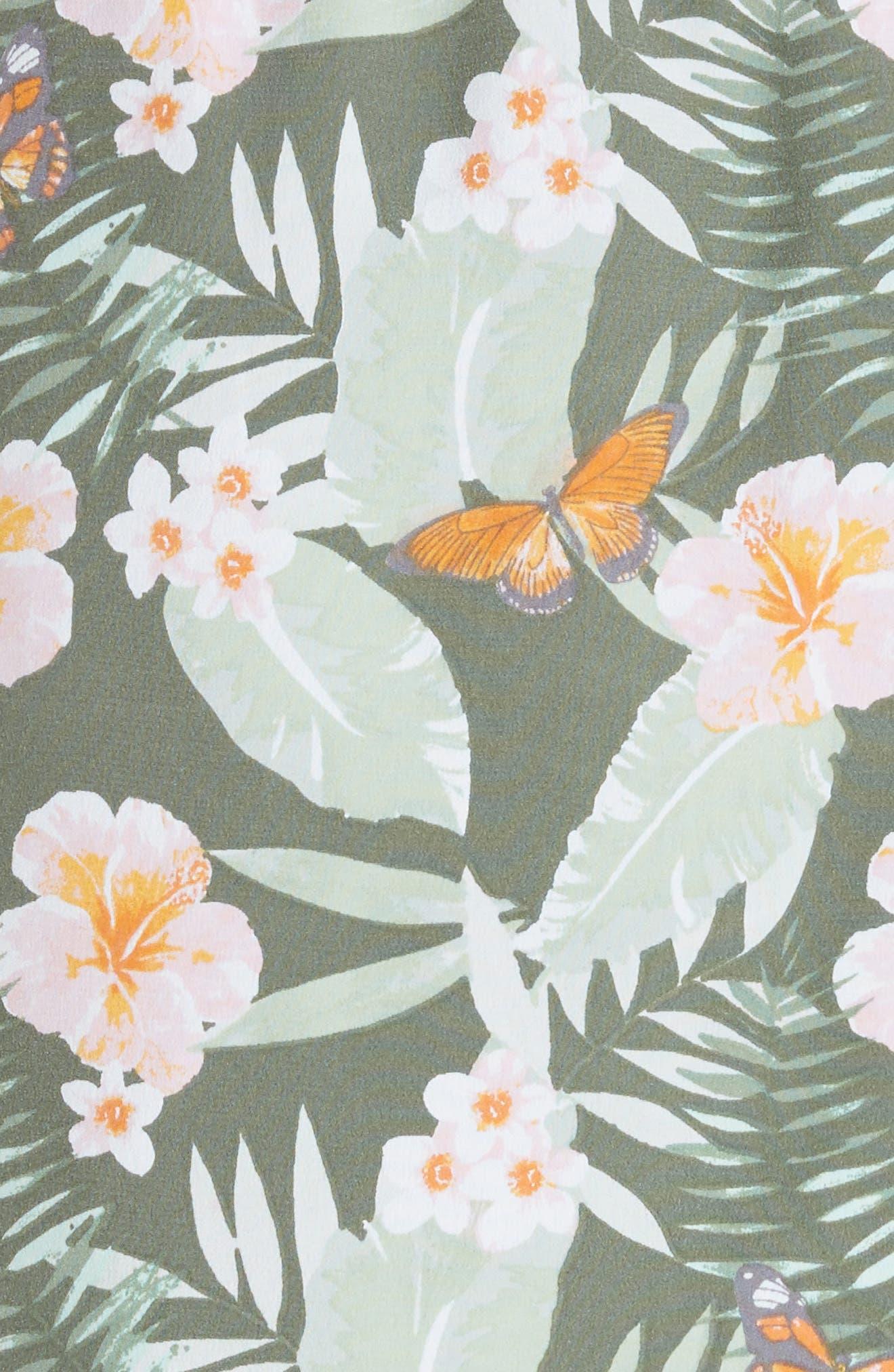 JOIE,                             Jayne High/Low Silk Dress,                             Alternate thumbnail 5, color,                             330