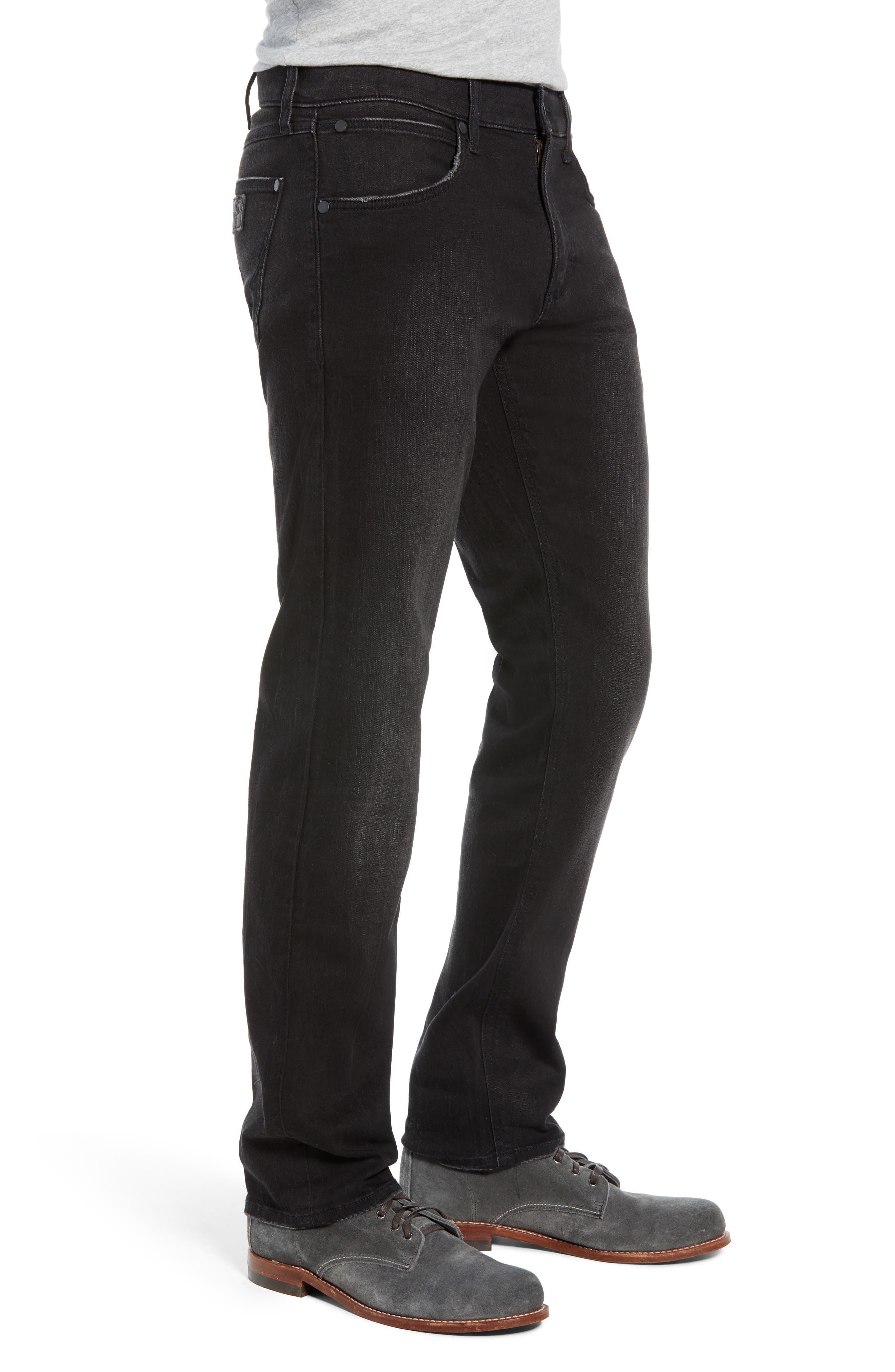 Greensboro Straight Leg Jeans,                             Alternate thumbnail 3, color,                             BLACK