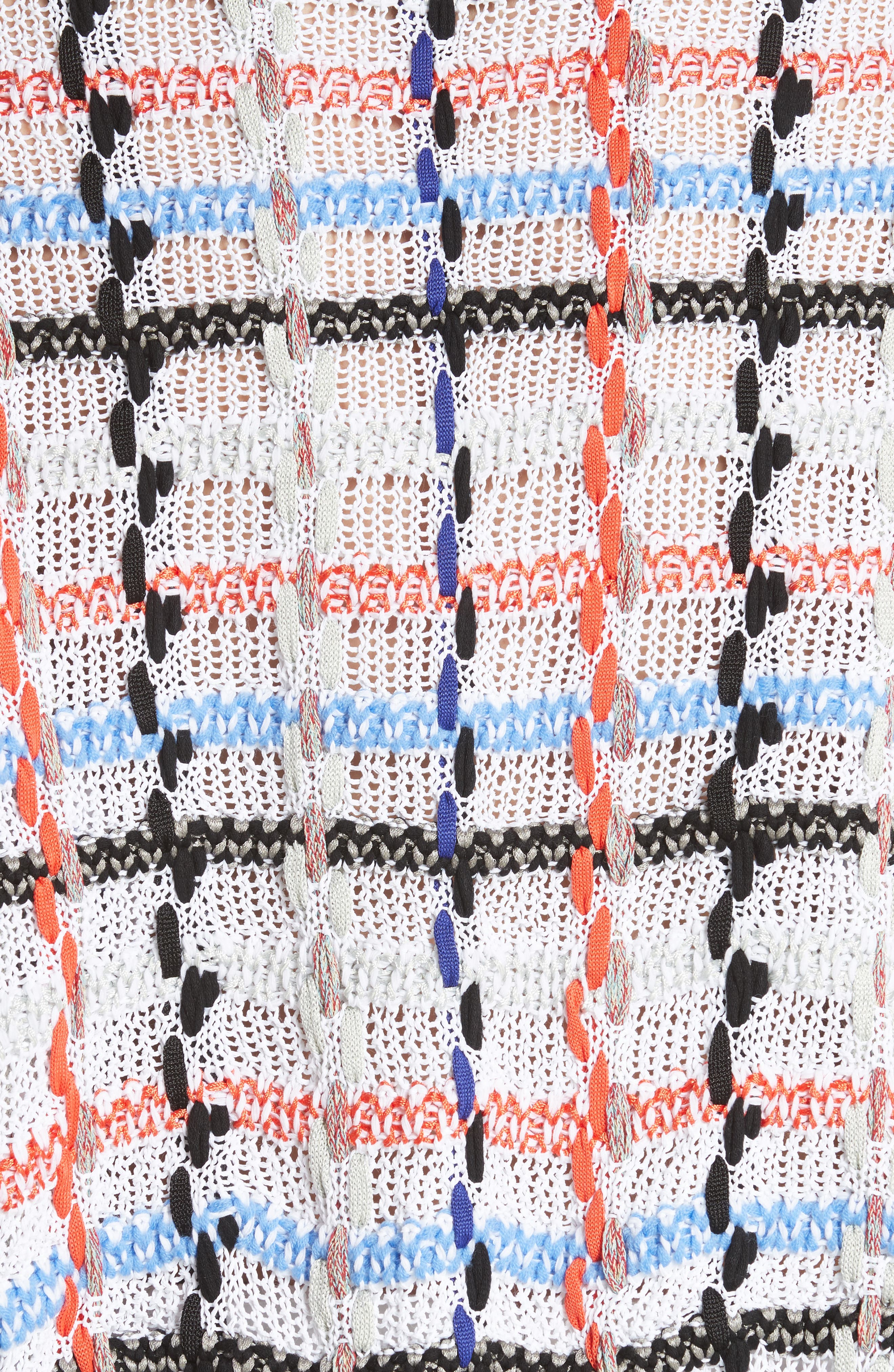 Lloyd Ribbon Detail Plaid Sweater,                             Alternate thumbnail 5, color,                             167