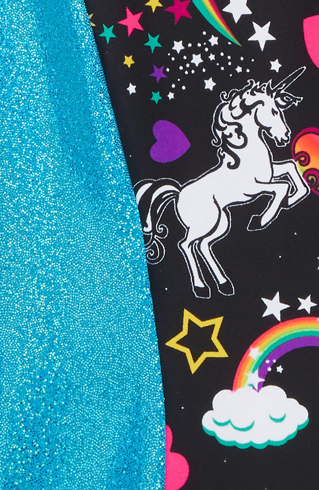 Unicorn Forever Perfect Fit Leotard,                             Alternate thumbnail 2, color,                             BLACK