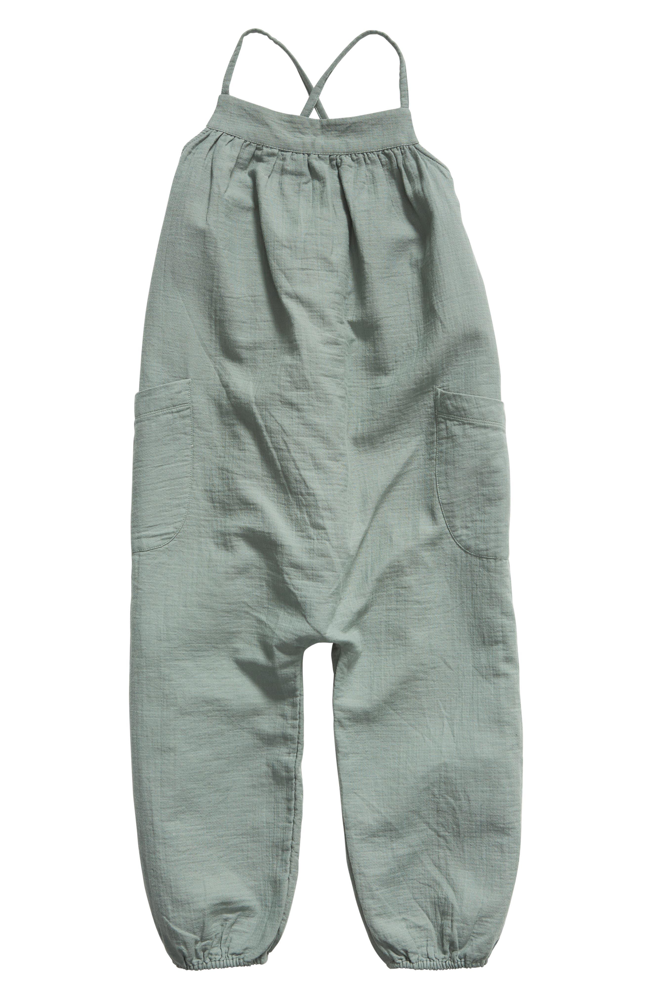 Girls Stem Cotton Jumpsuit Size 8  Black