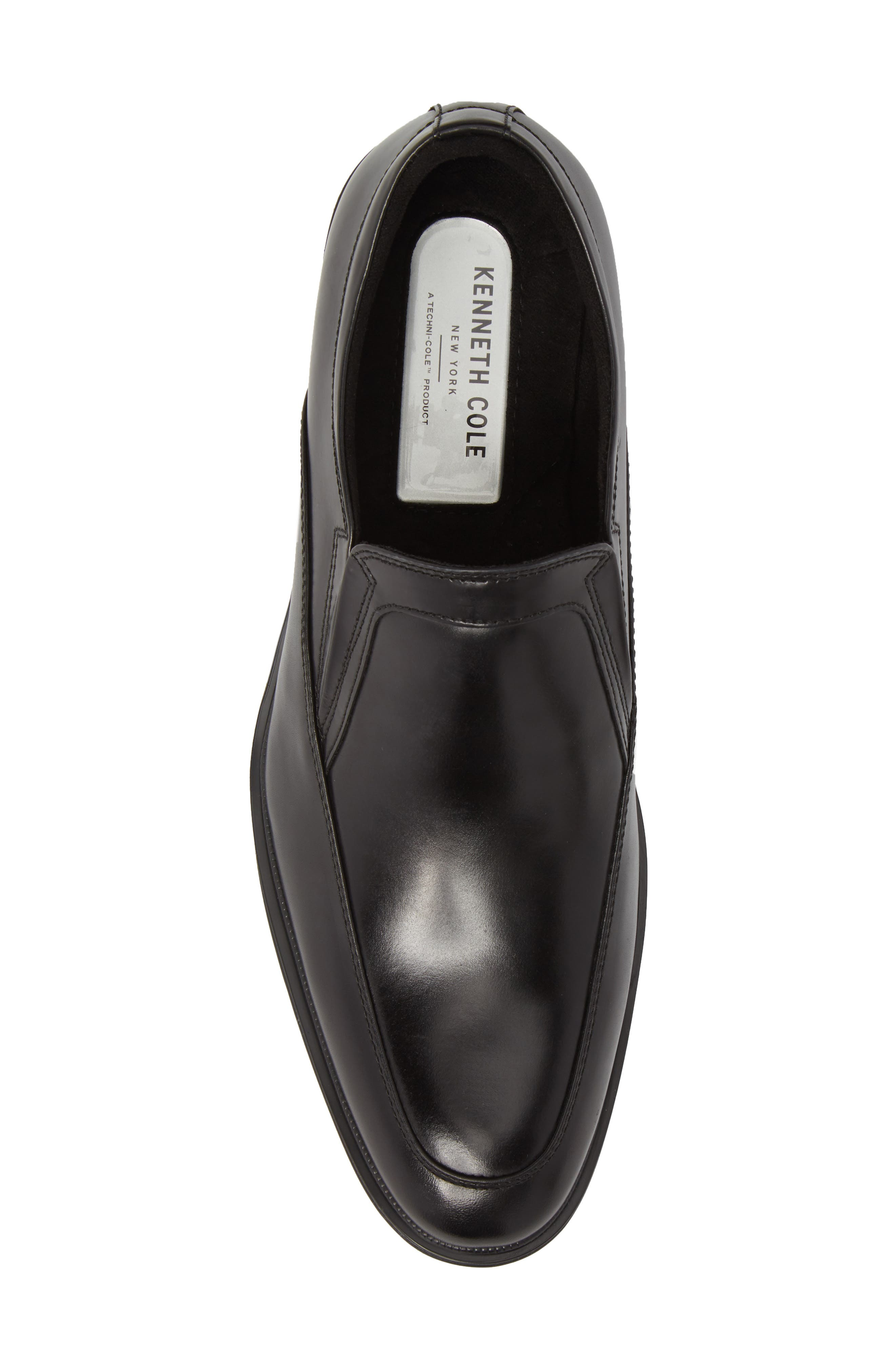 KENNETH COLE NEW YORK,                             Tully Venetian Loafer,                             Alternate thumbnail 5, color,                             BLACK LEATHER