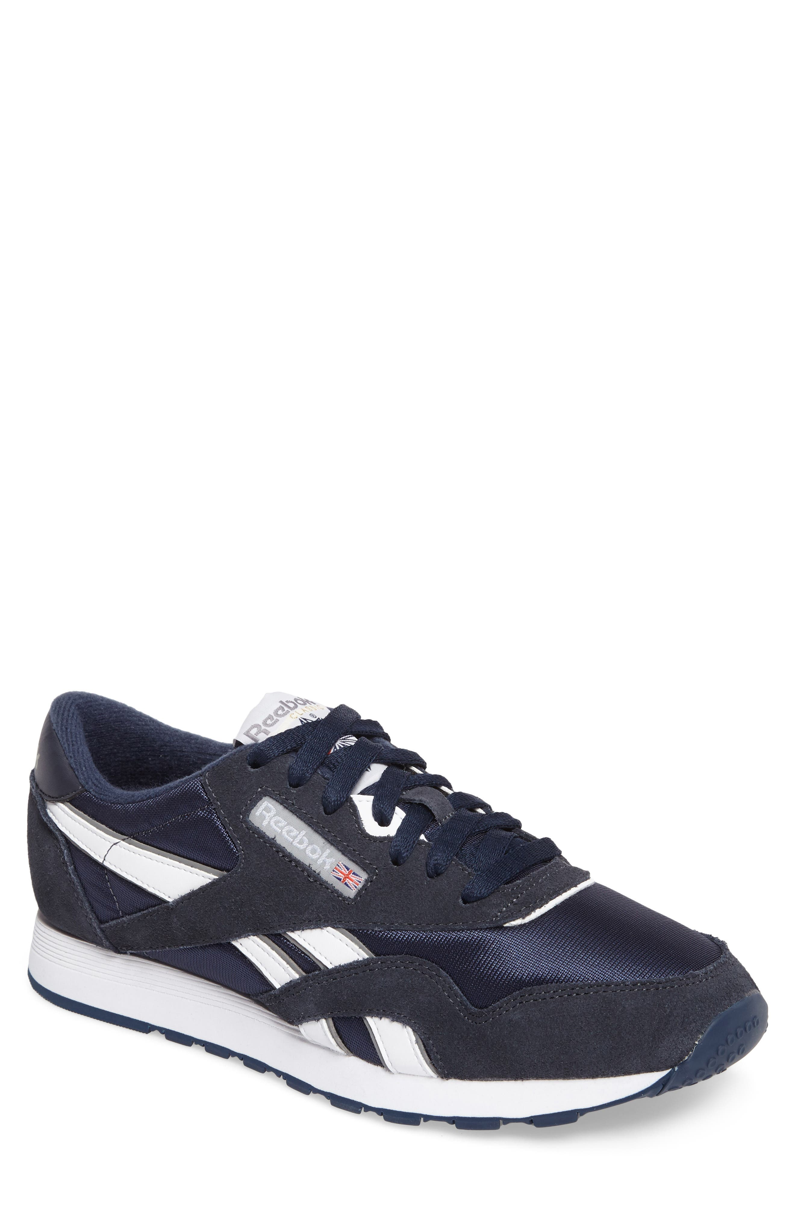 Classic Nylon Sneaker,                         Main,                         color, TEAM NAVY/ PLATINUM
