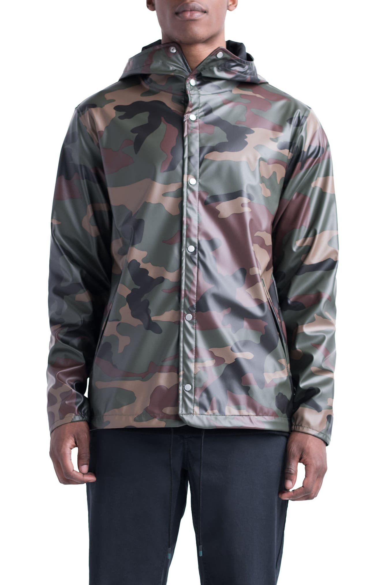 Forecast Hooded Coaches Jacket,                             Main thumbnail 3, color,