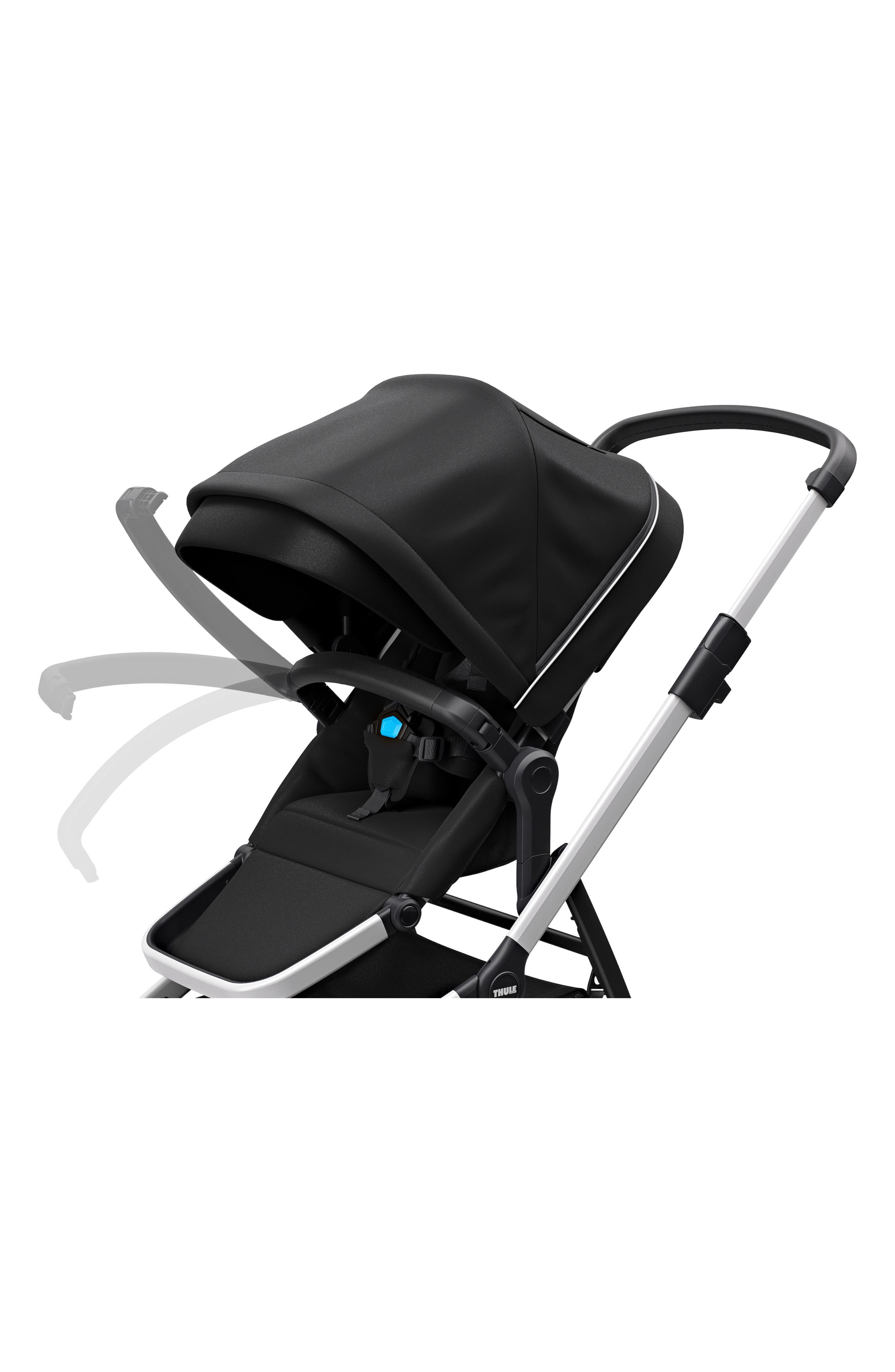 2018 Sleek City Stroller,                             Alternate thumbnail 7, color,                             BLACK
