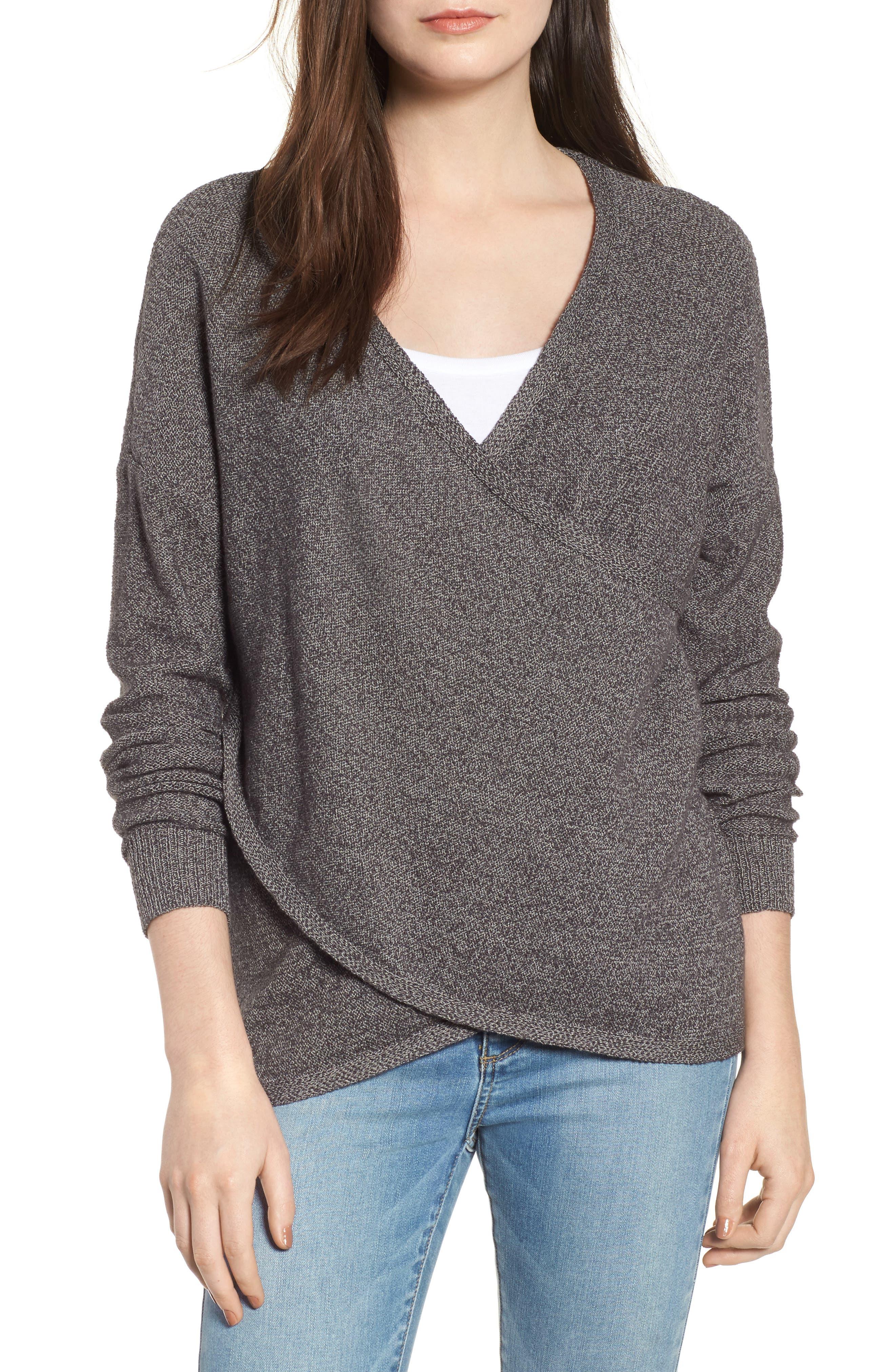 Lunar Surplice Sweater,                         Main,                         color, 020