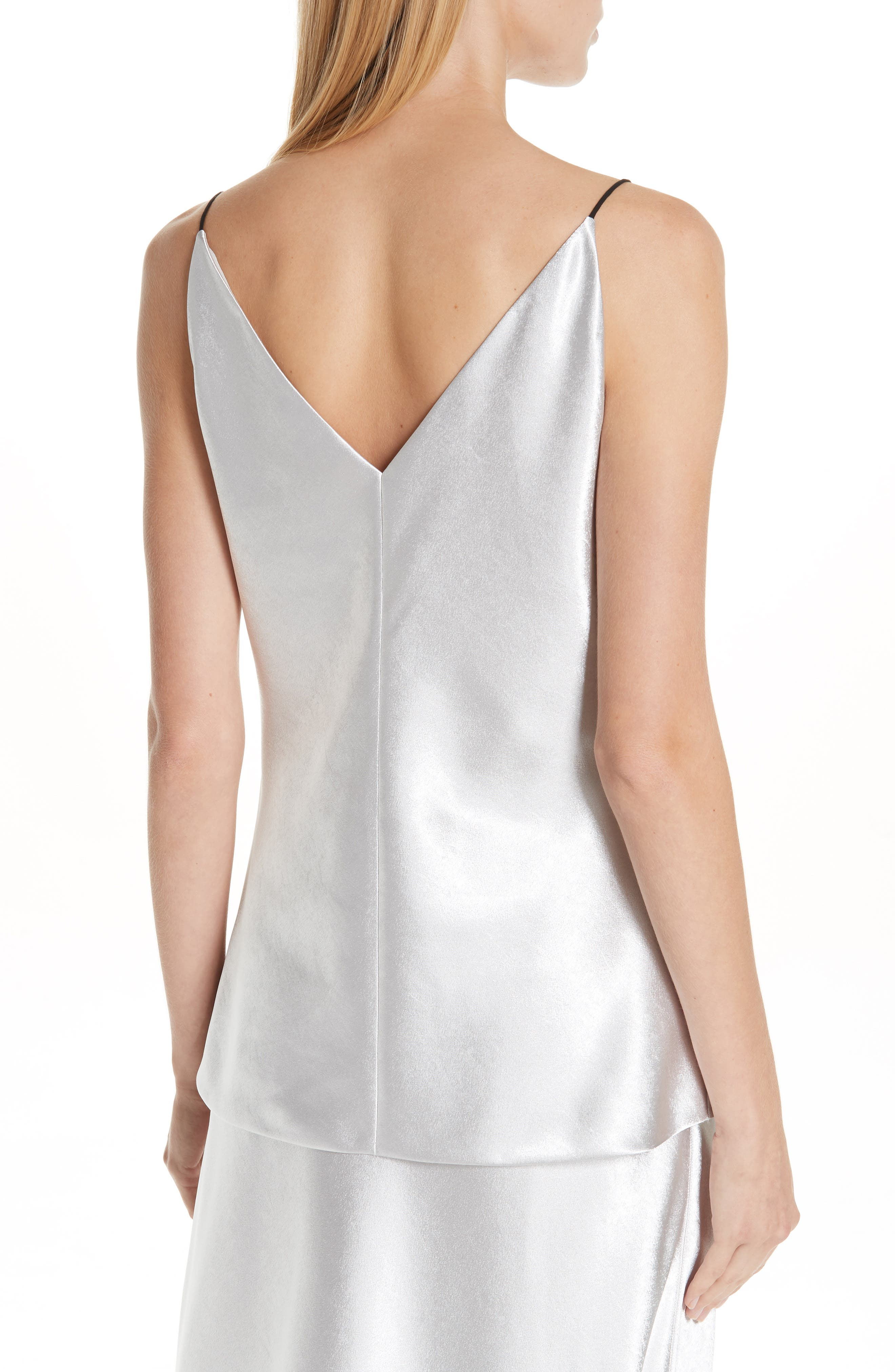 V-Neck Bias Camisole,                             Alternate thumbnail 2, color,                             SILVER