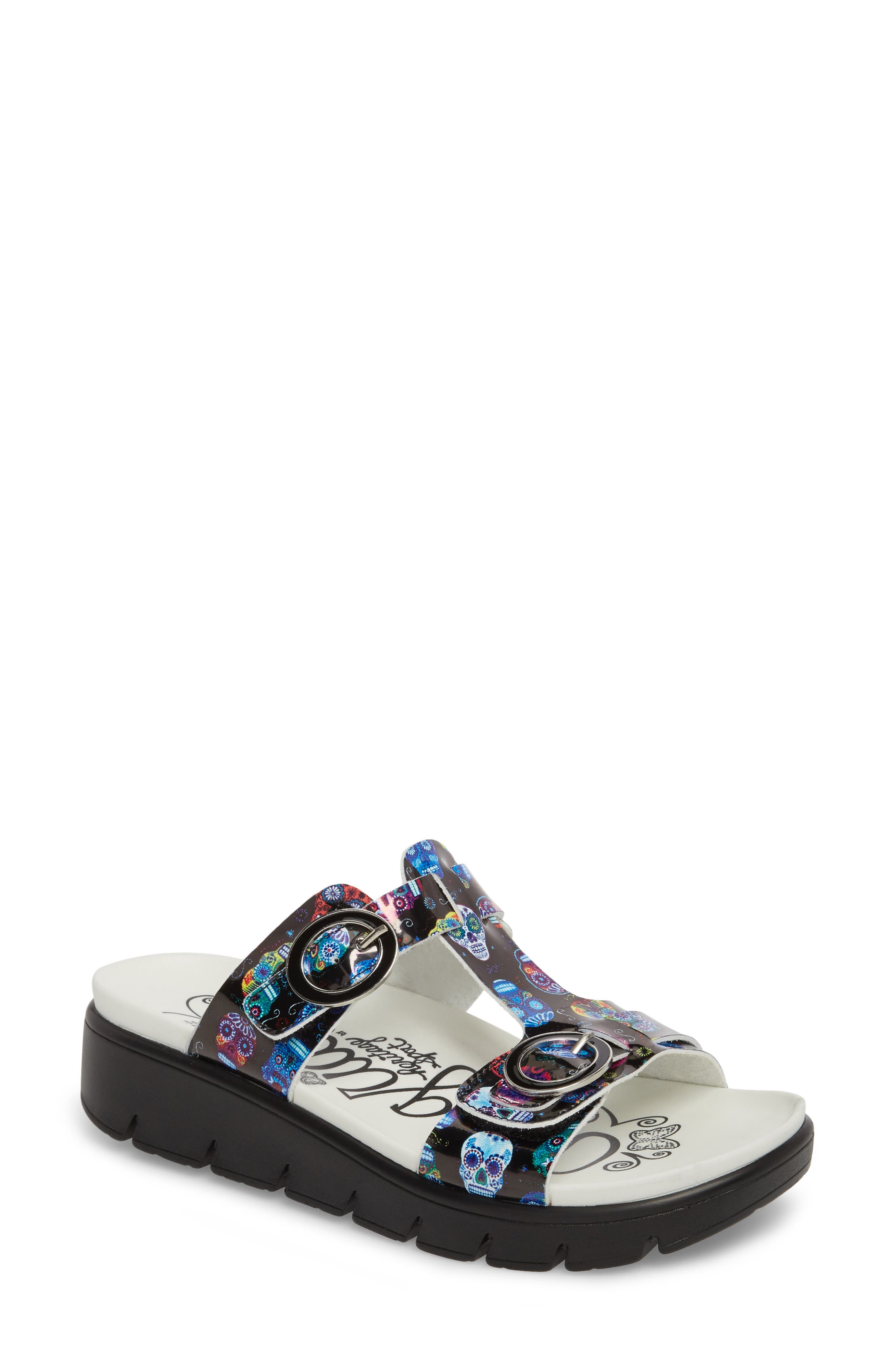 Vita Sandal,                             Main thumbnail 1, color,                             SUGAR SKULLS LEATHER