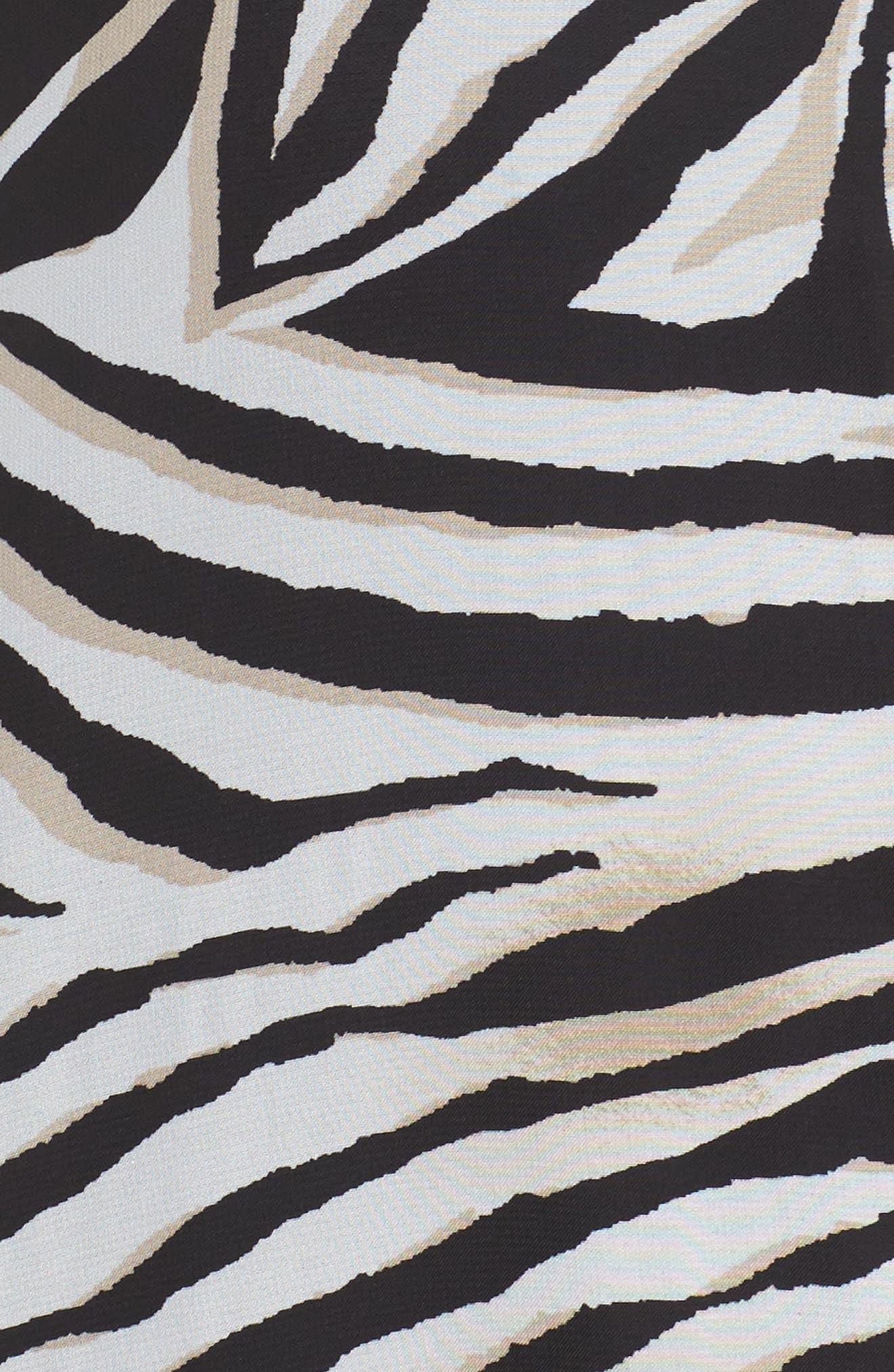 Animal Print Split Maxi Dress,                             Alternate thumbnail 5, color,                             010