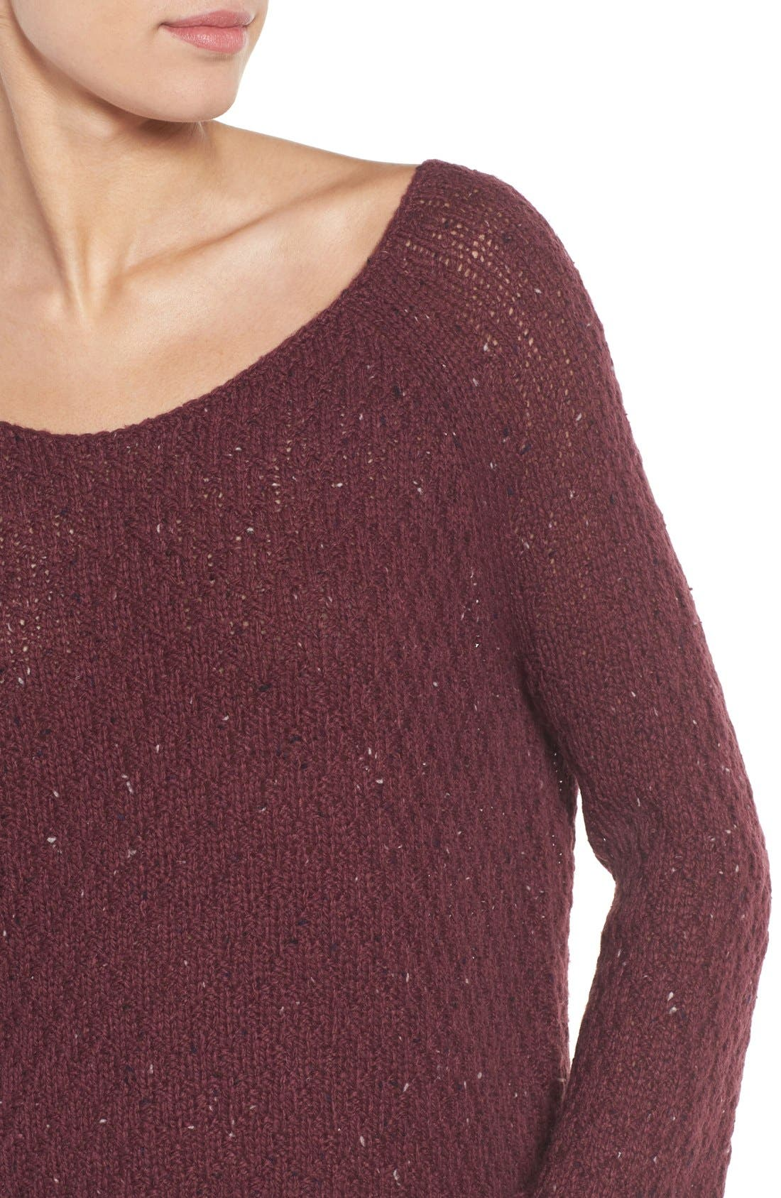 Slouchy Tunic Sweater,                             Alternate thumbnail 16, color,