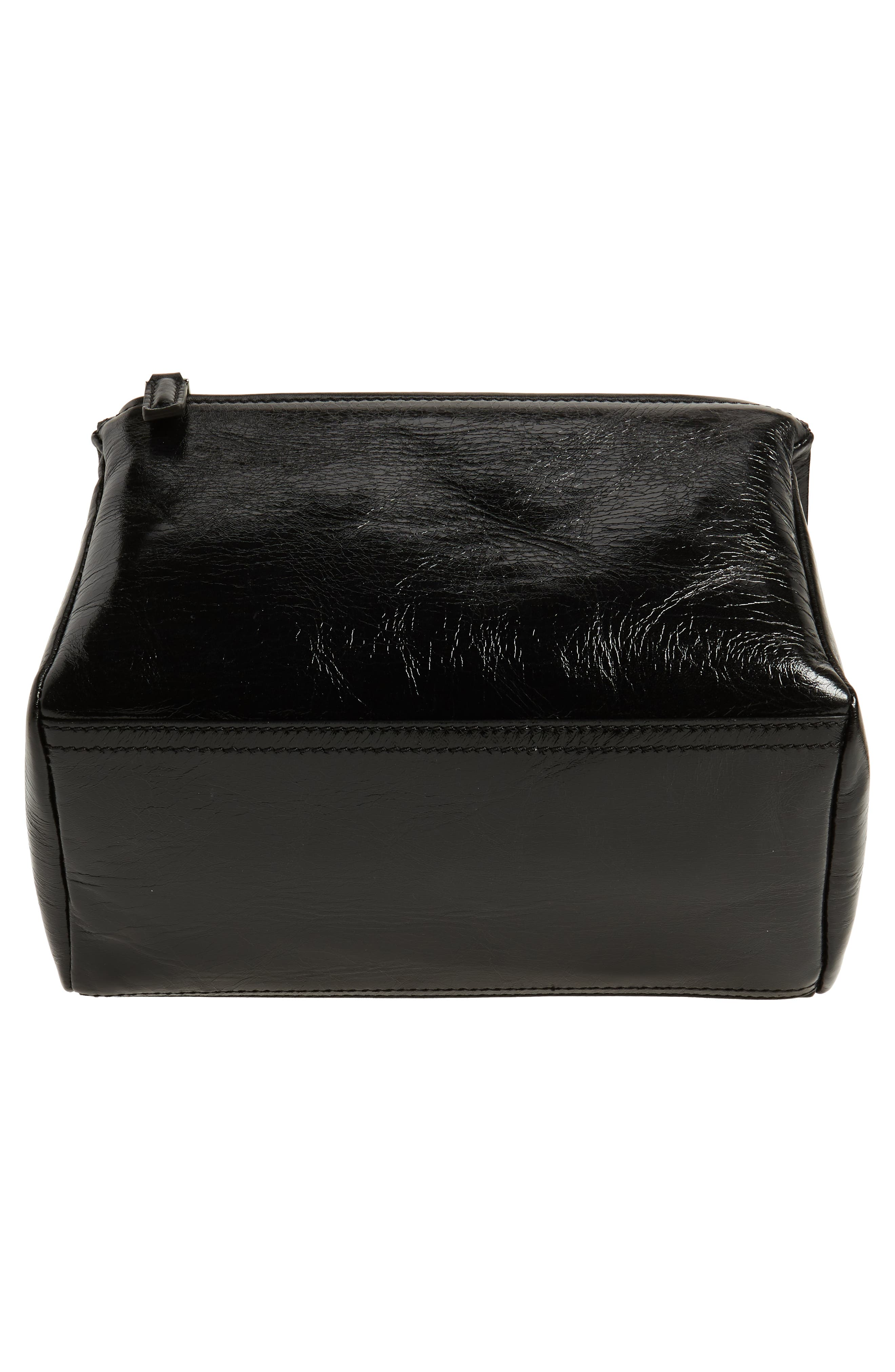 Small Pandora Leather Shoulder Bag,                             Alternate thumbnail 6, color,                             BLACK