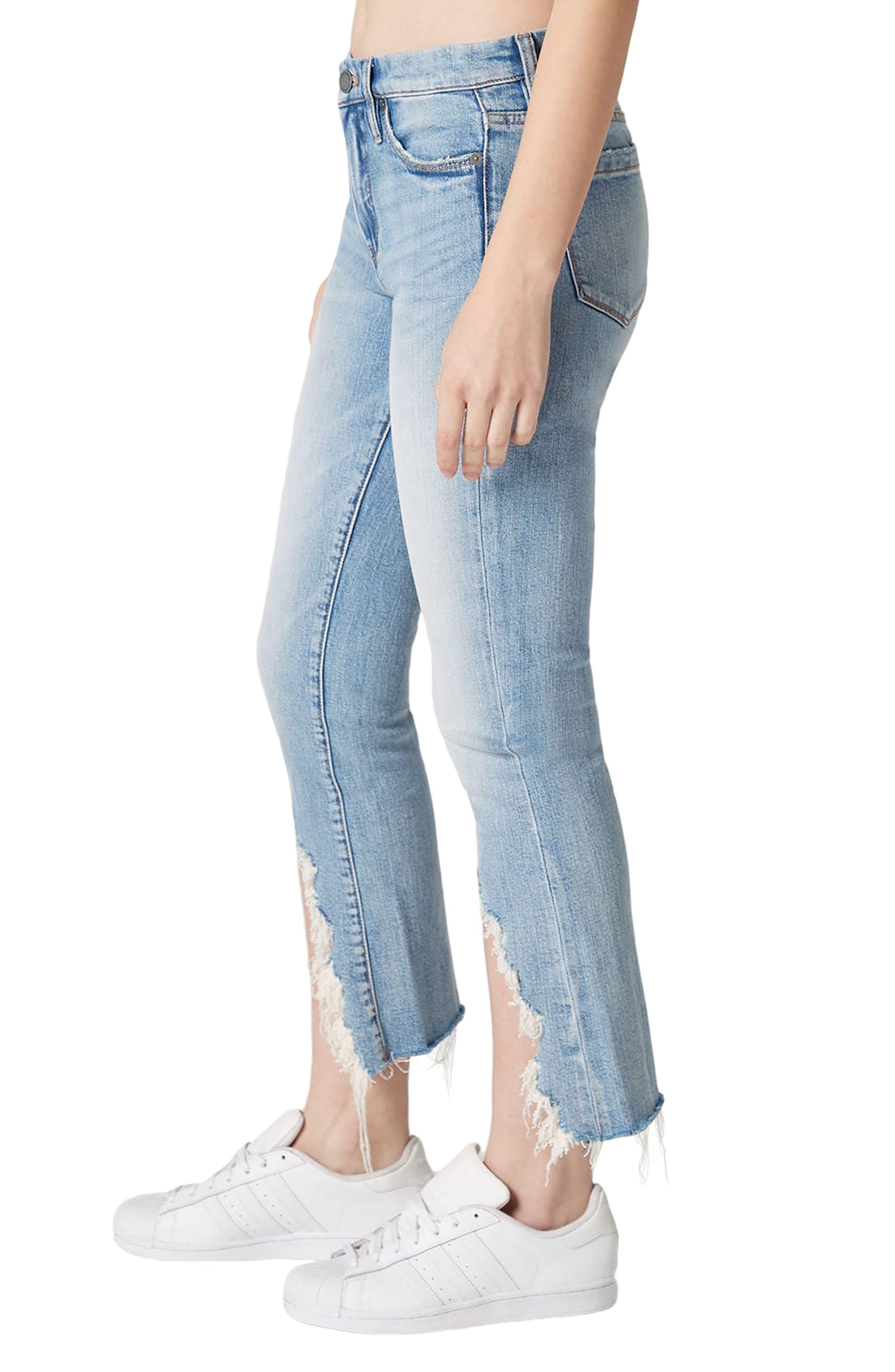 Constant Convo Distressed Hem Jeans,                             Alternate thumbnail 3, color,                             400