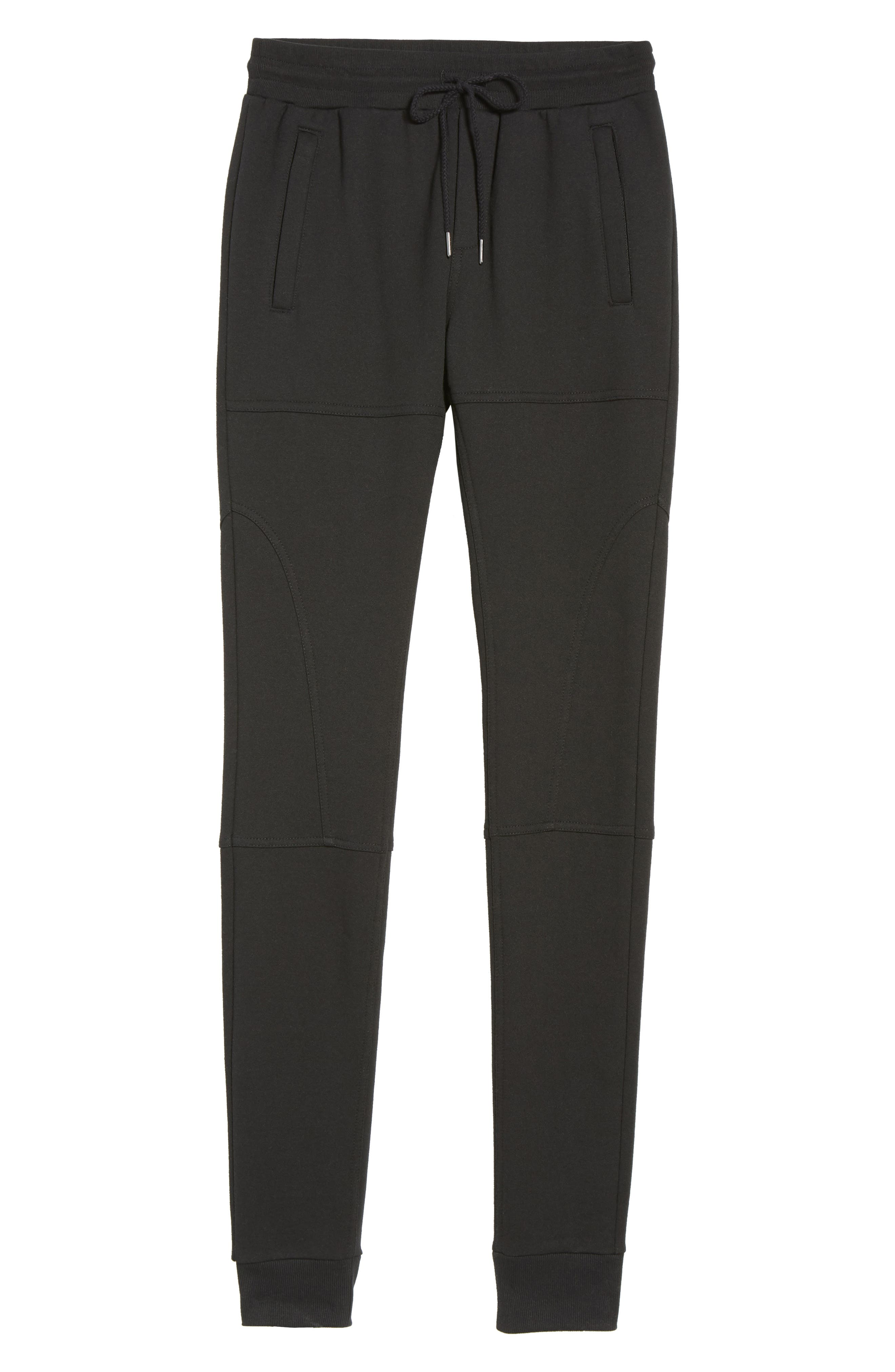 French Terry Sweatpants,                             Alternate thumbnail 6, color,                             001