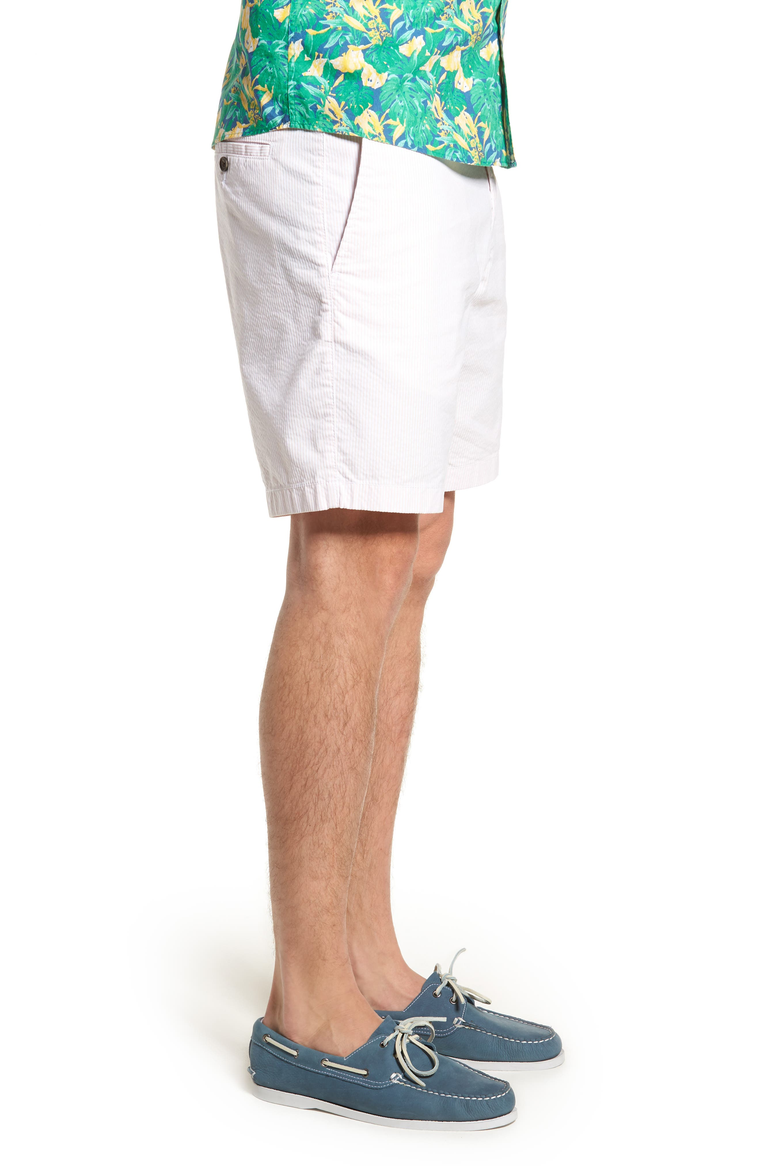 Ballard Slim Fit Seersucker Shorts,                             Alternate thumbnail 6, color,