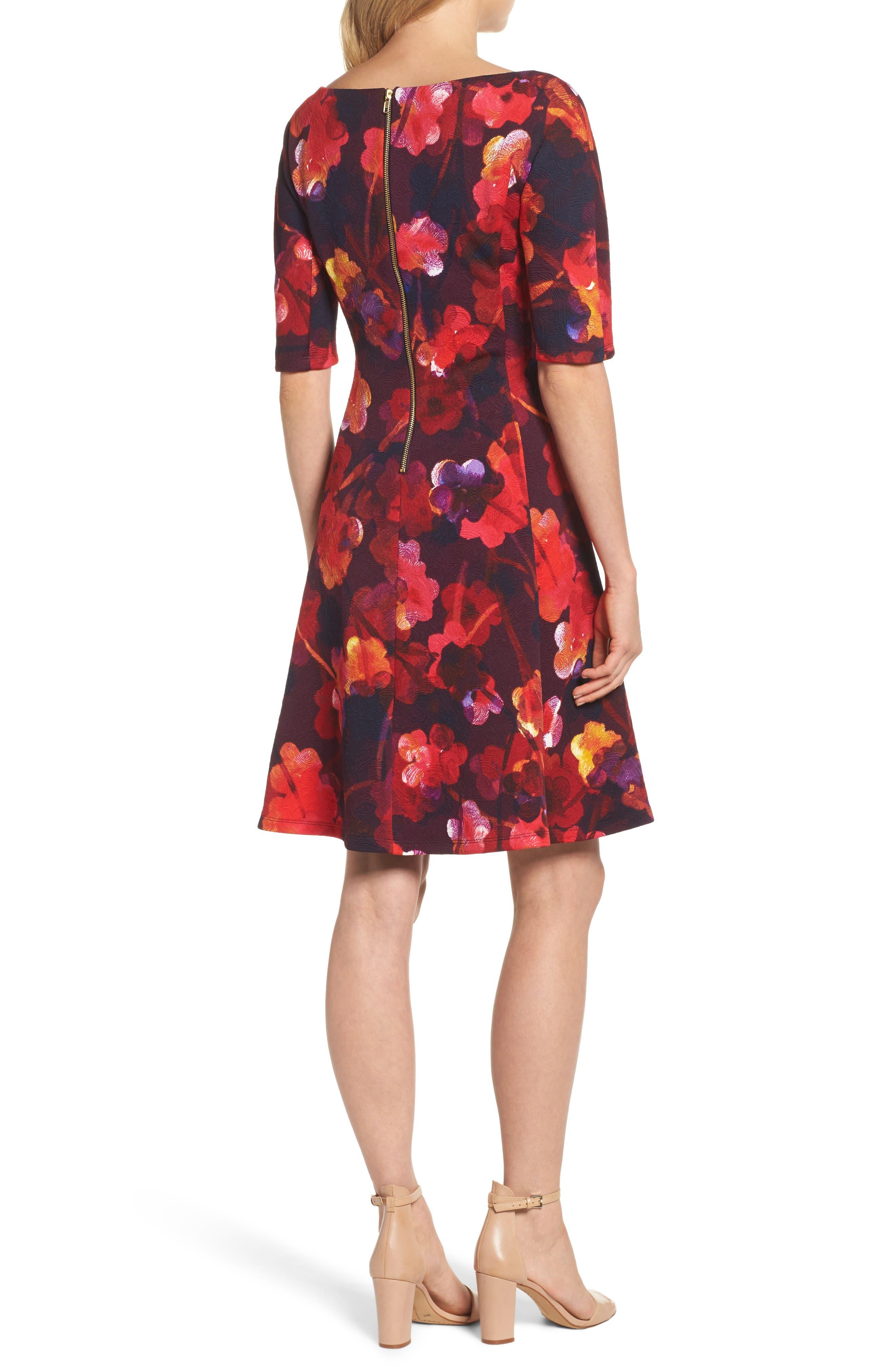 Fit & Flare Dress,                             Alternate thumbnail 2, color,                             646