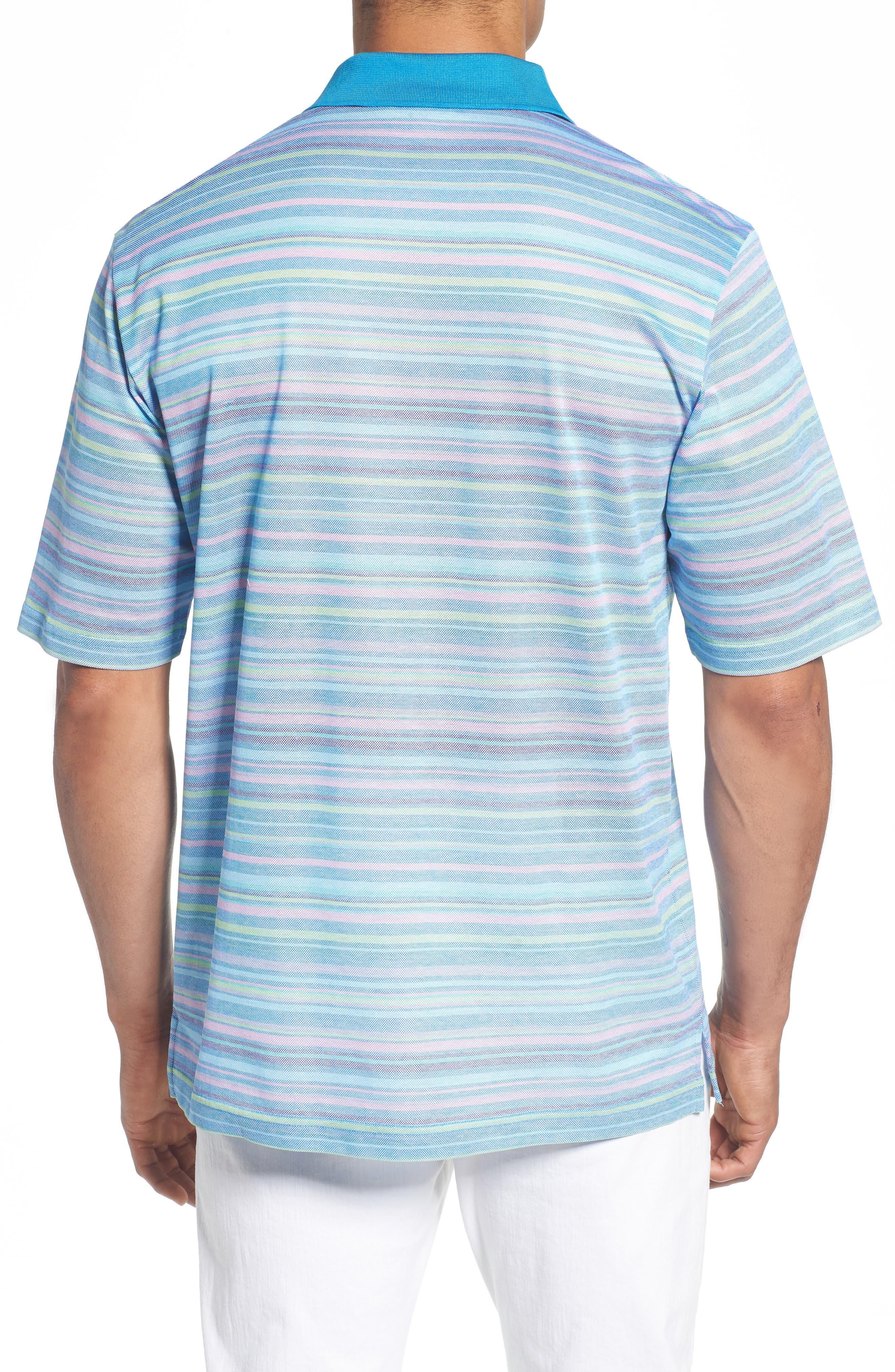 Stripe Mercerized Cotton Polo,                             Alternate thumbnail 2, color,                             459